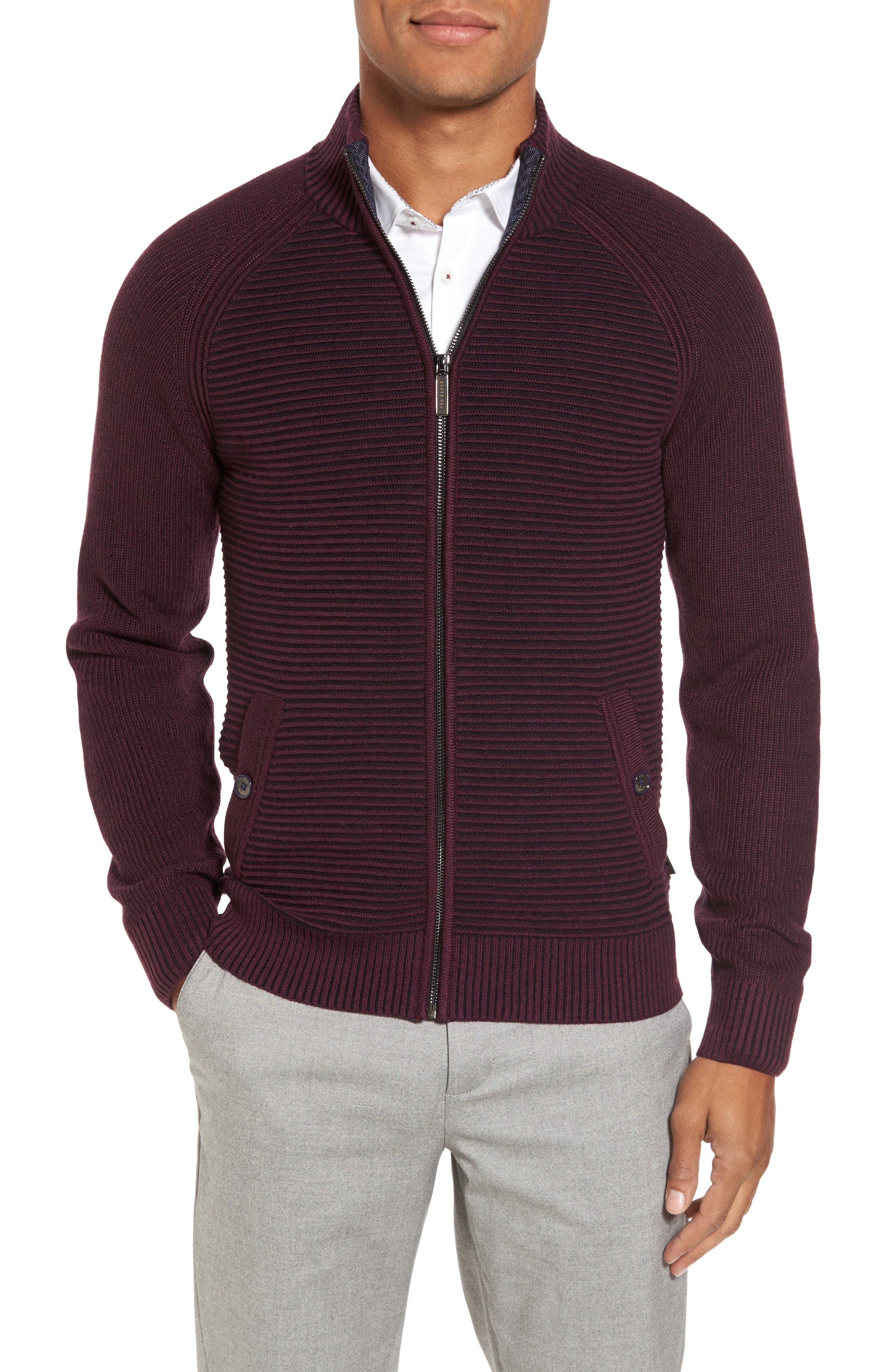 Main Image - Ted Baker London Modern Slim Fit Raglan Sweater