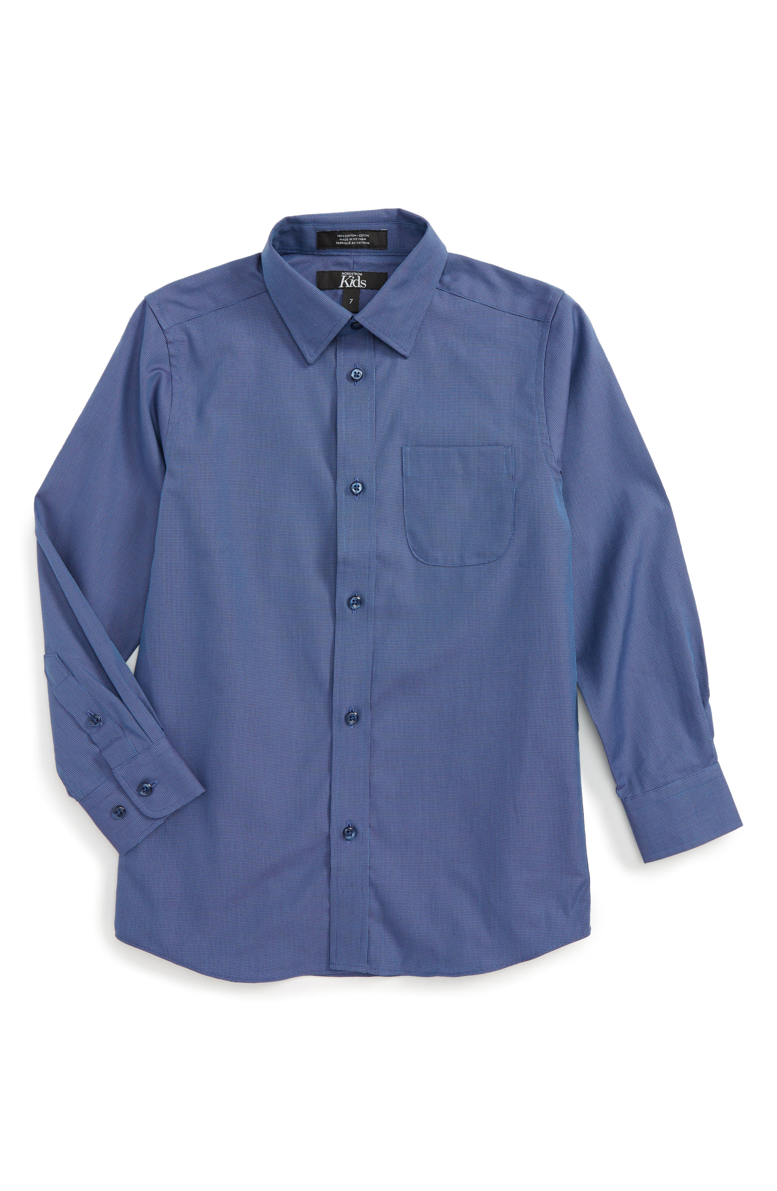 Main Image - Nordstrom Patriot Cotton Poplin Dress Shirt (Toddler Boys & Little Boys)
