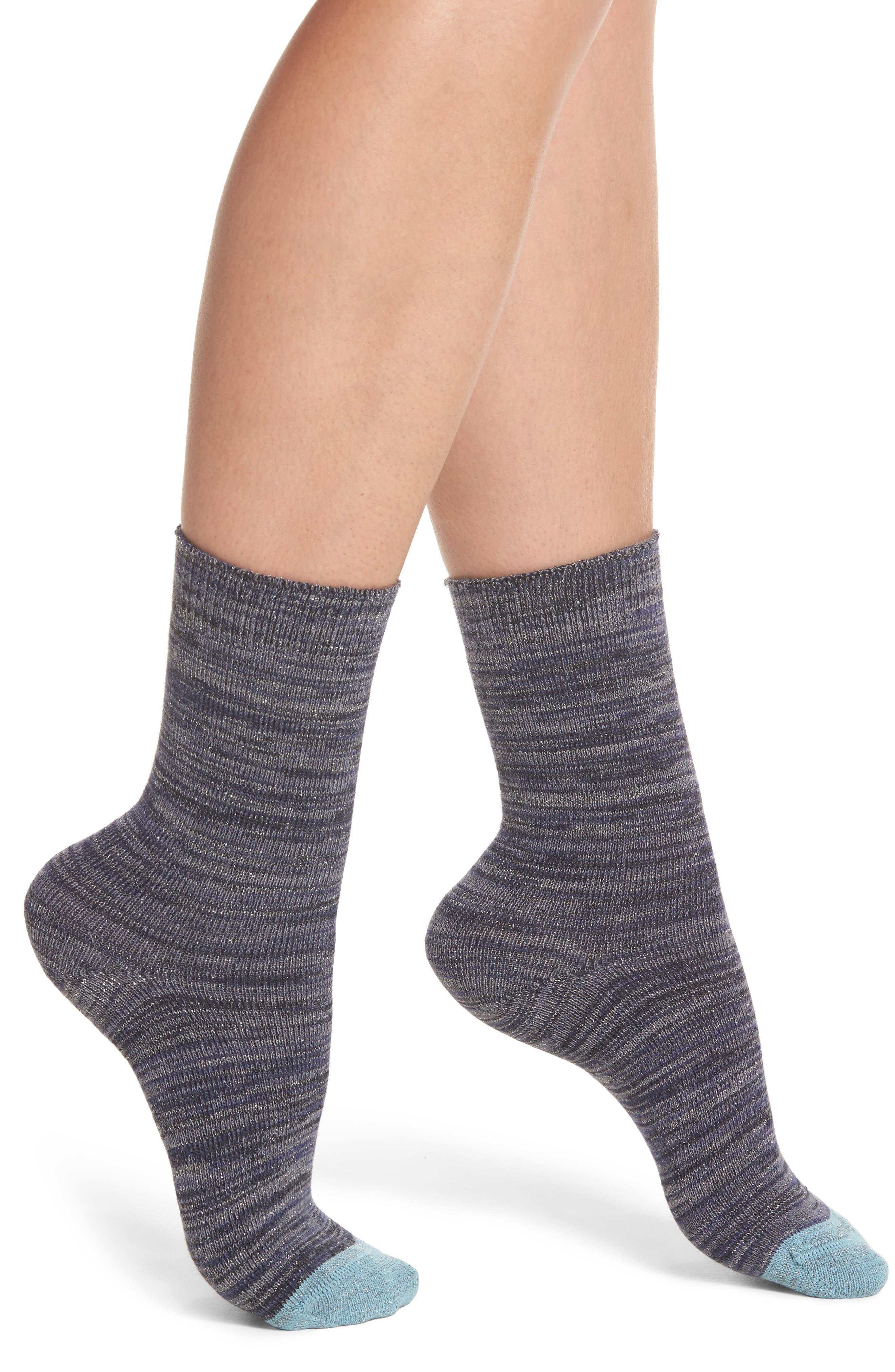 Emily Twinkletoes Crew Socks,                             Main thumbnail 1, color,                             Navy