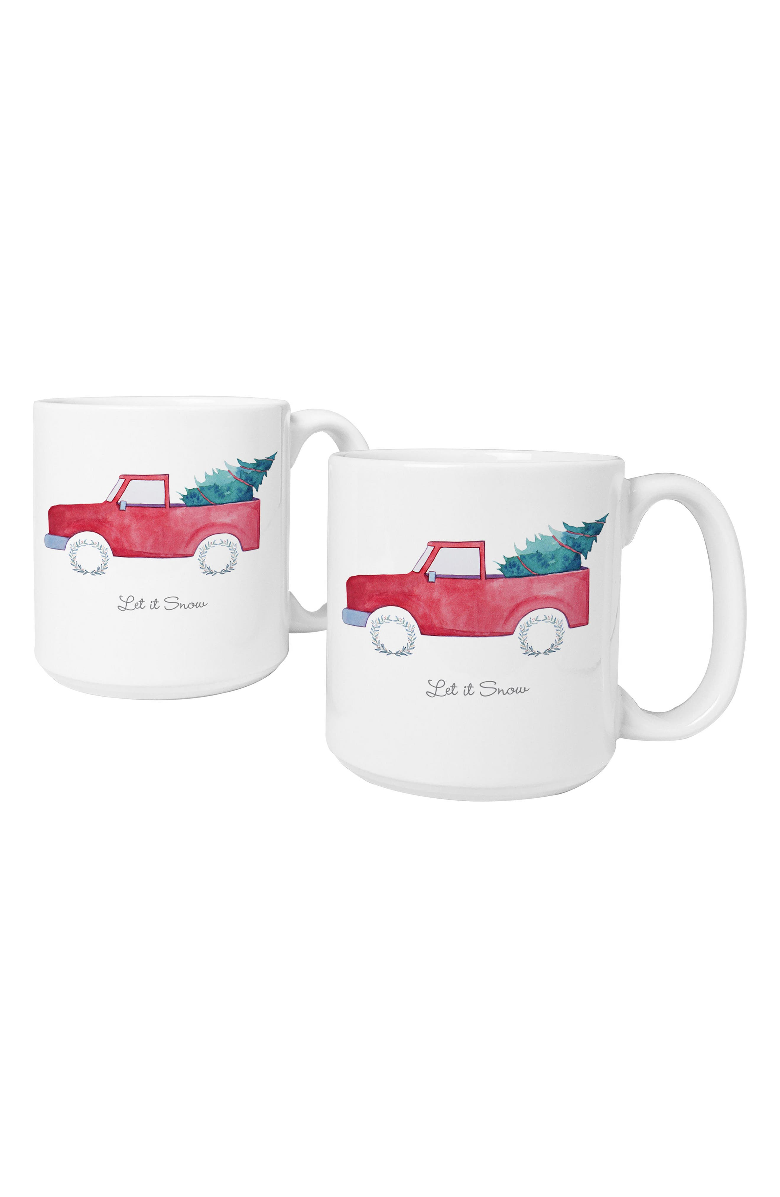 Cathy's Concepts Let It Snow Set of 2 Mugs