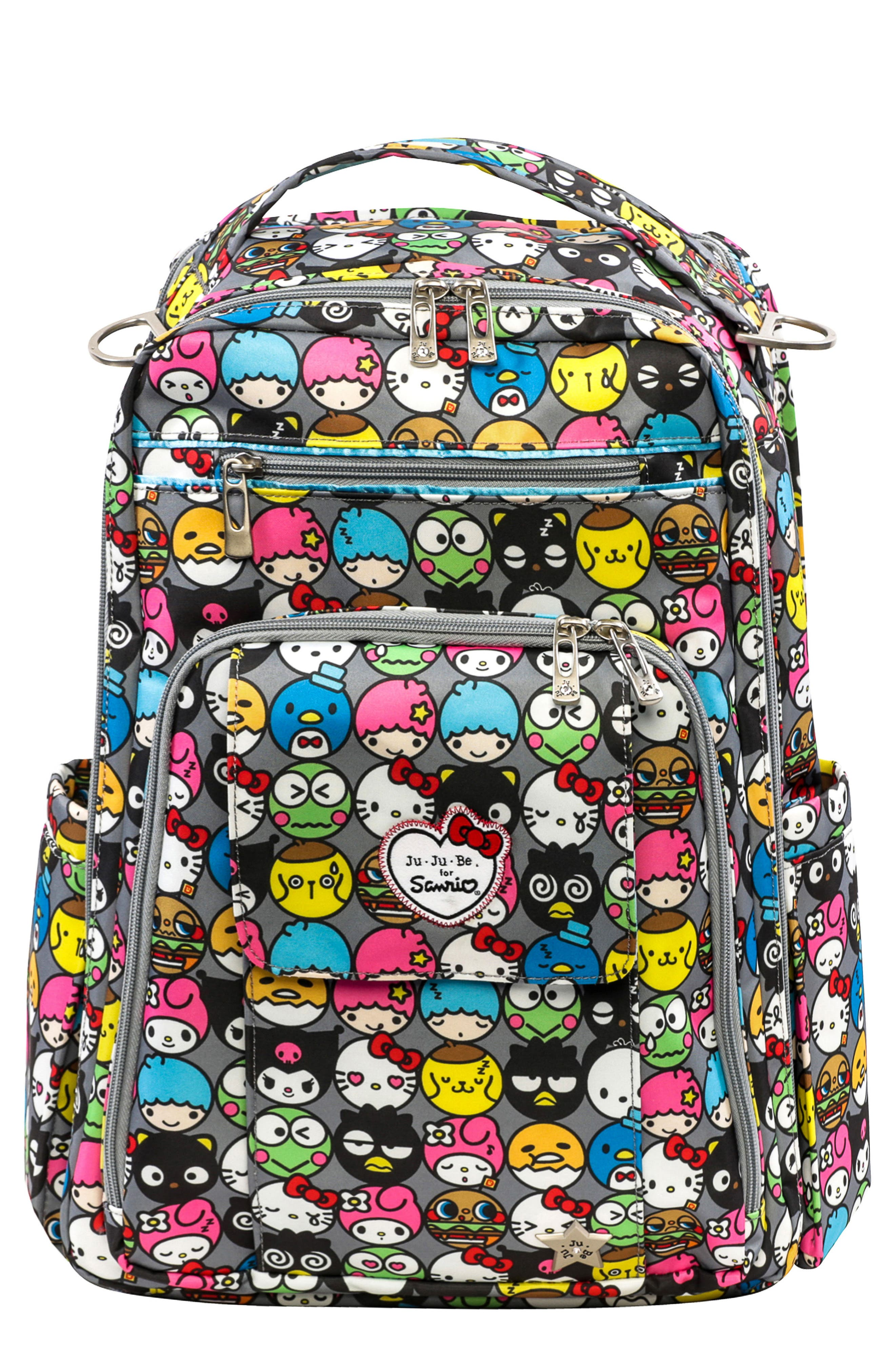 for Hello Kitty<sup>®</sup> 'Be Right Back' Diaper Backpack,                             Main thumbnail 1, color,                             Hello Friends