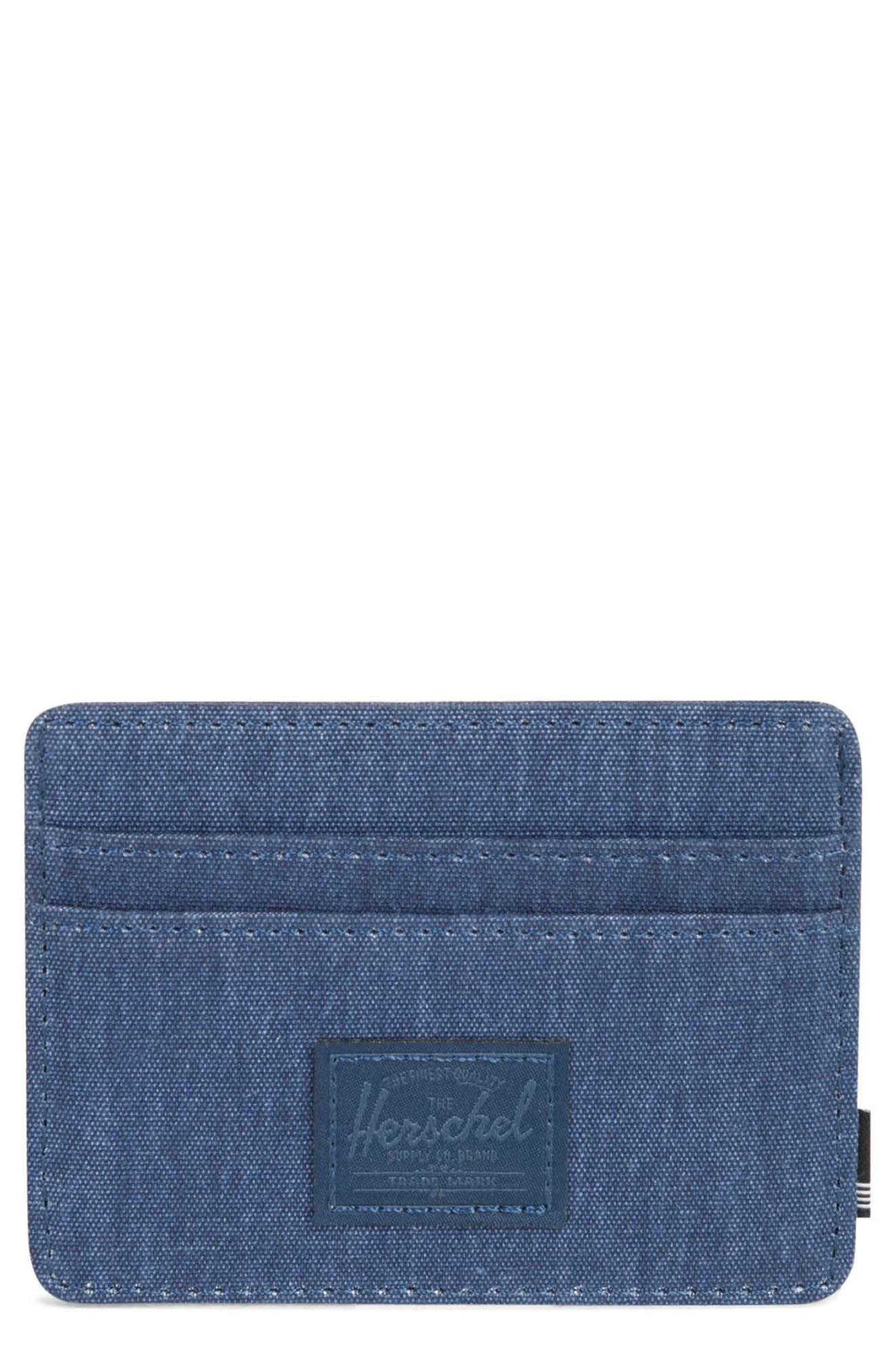 Charlie Card Case,                         Main,                         color, Peacoat