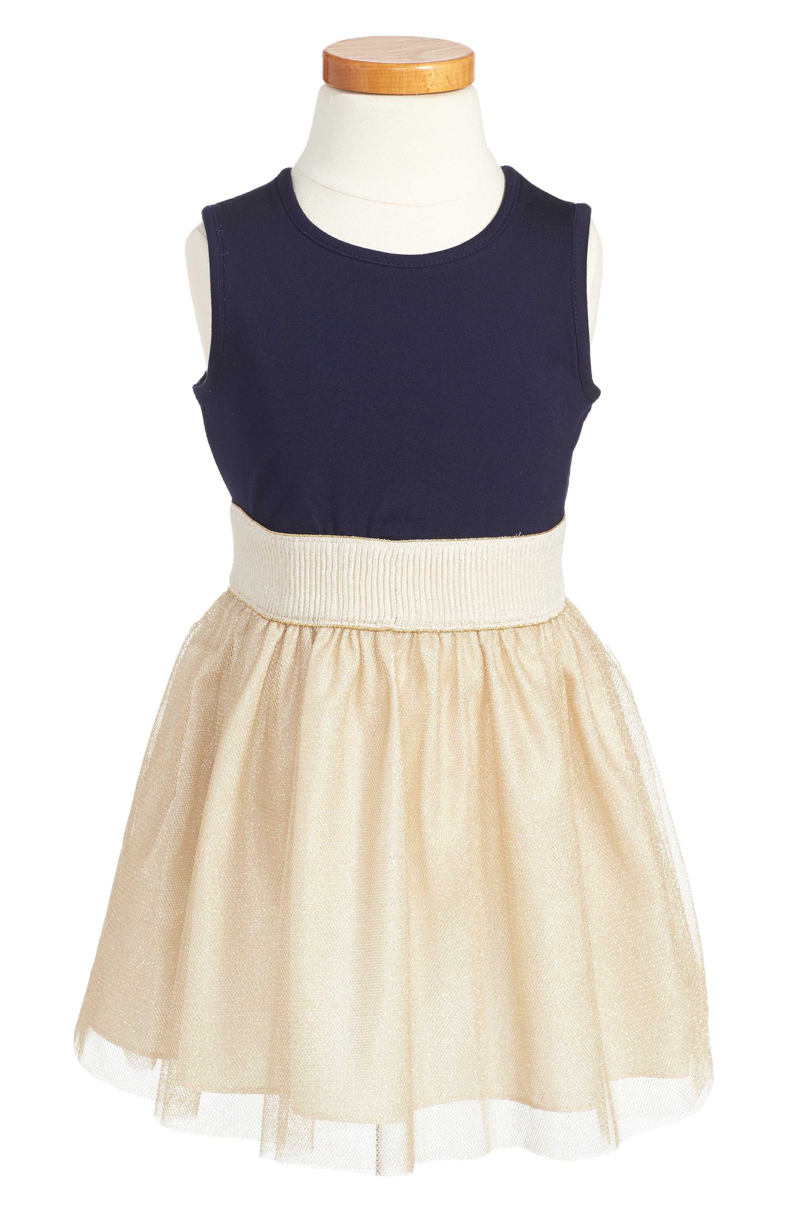 Majorette Jacket & Tank Dress Set,                             Alternate thumbnail 3, color,                             Navy/ Gold
