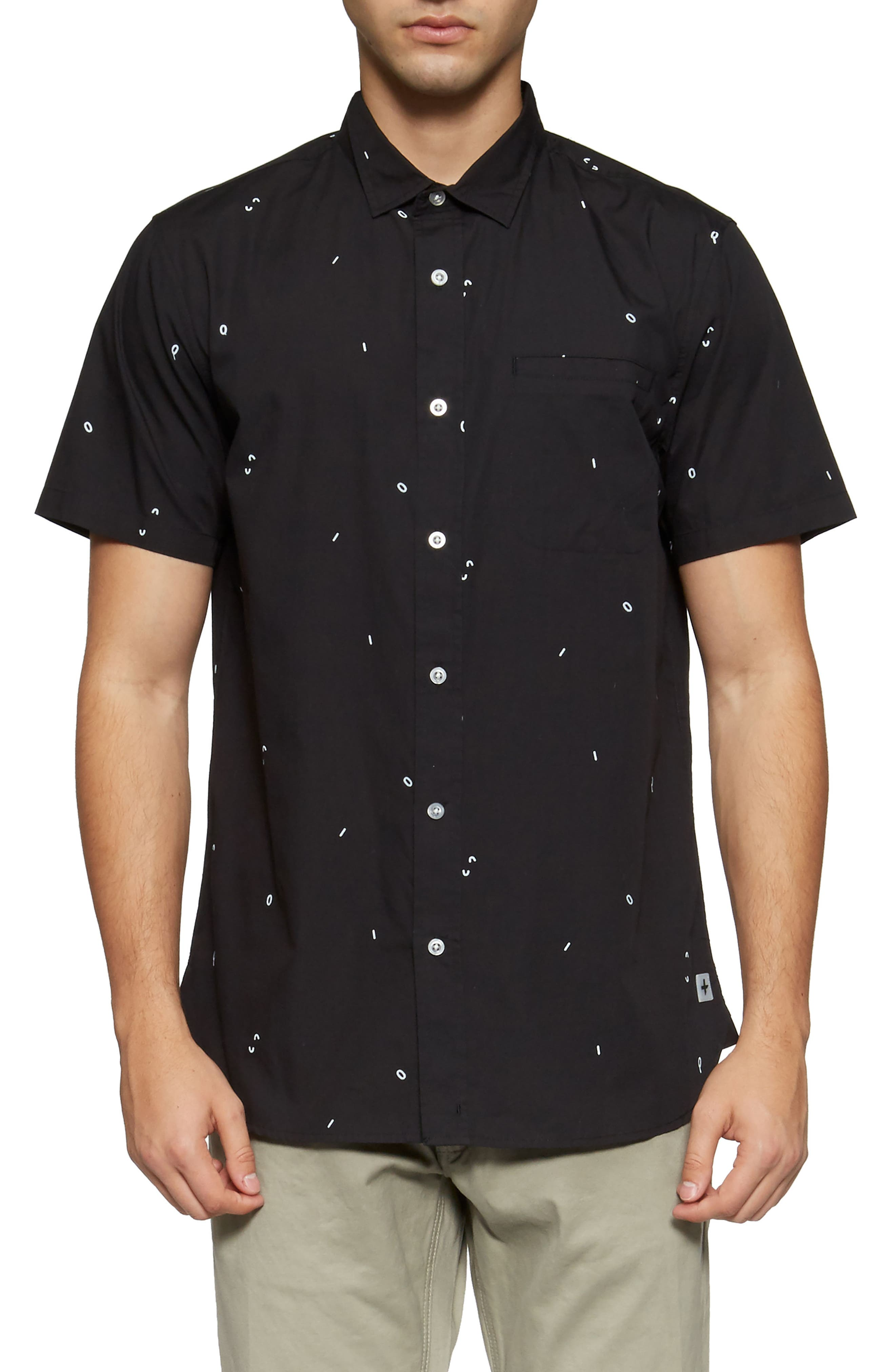 Alternate Image 1 Selected - TAVIK 'Porter' Print Poplin Short Sleeve Woven Shirt