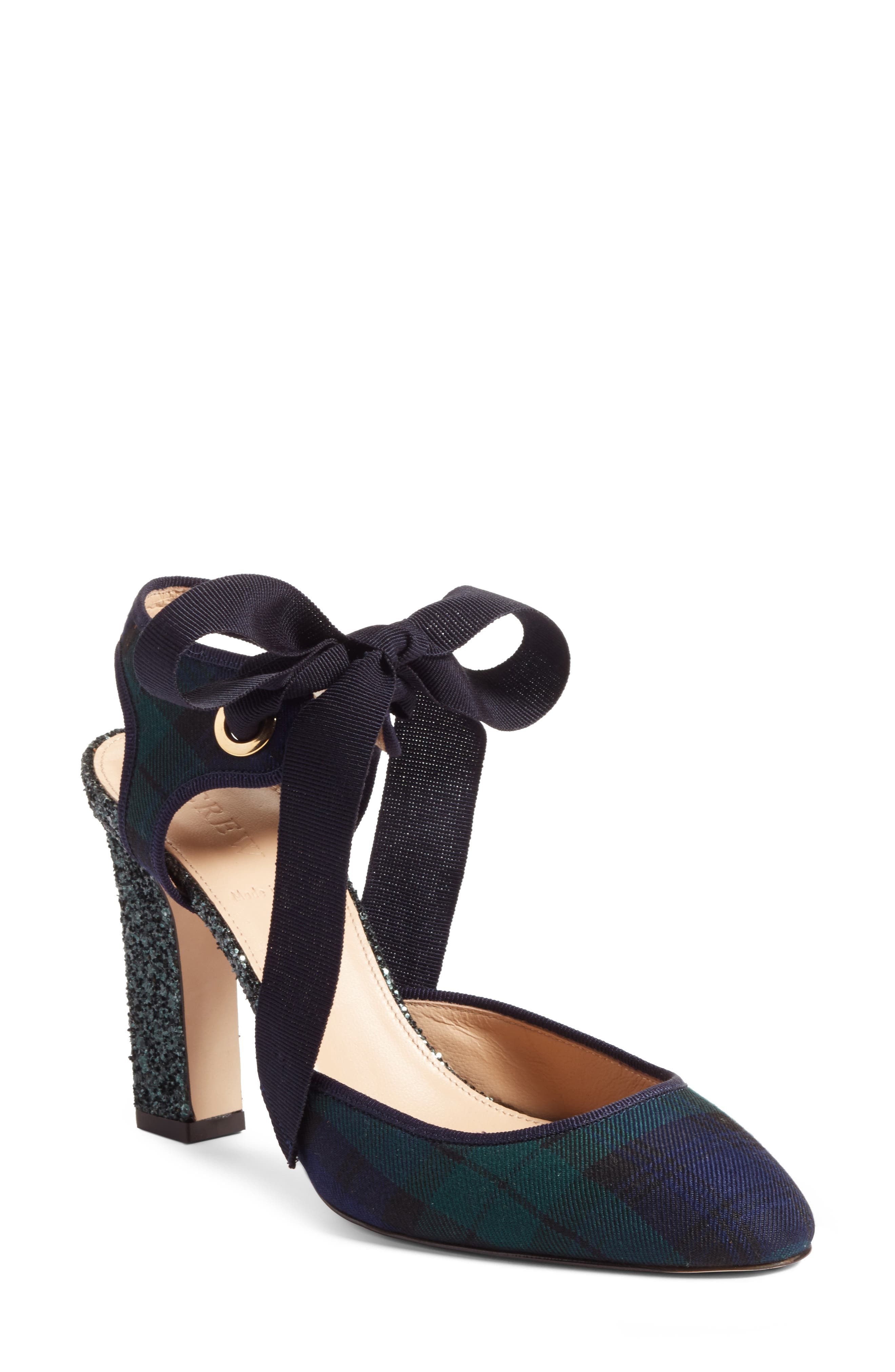 Blackwatch Bow Pump,                         Main,                         color, Green/ Black Leather