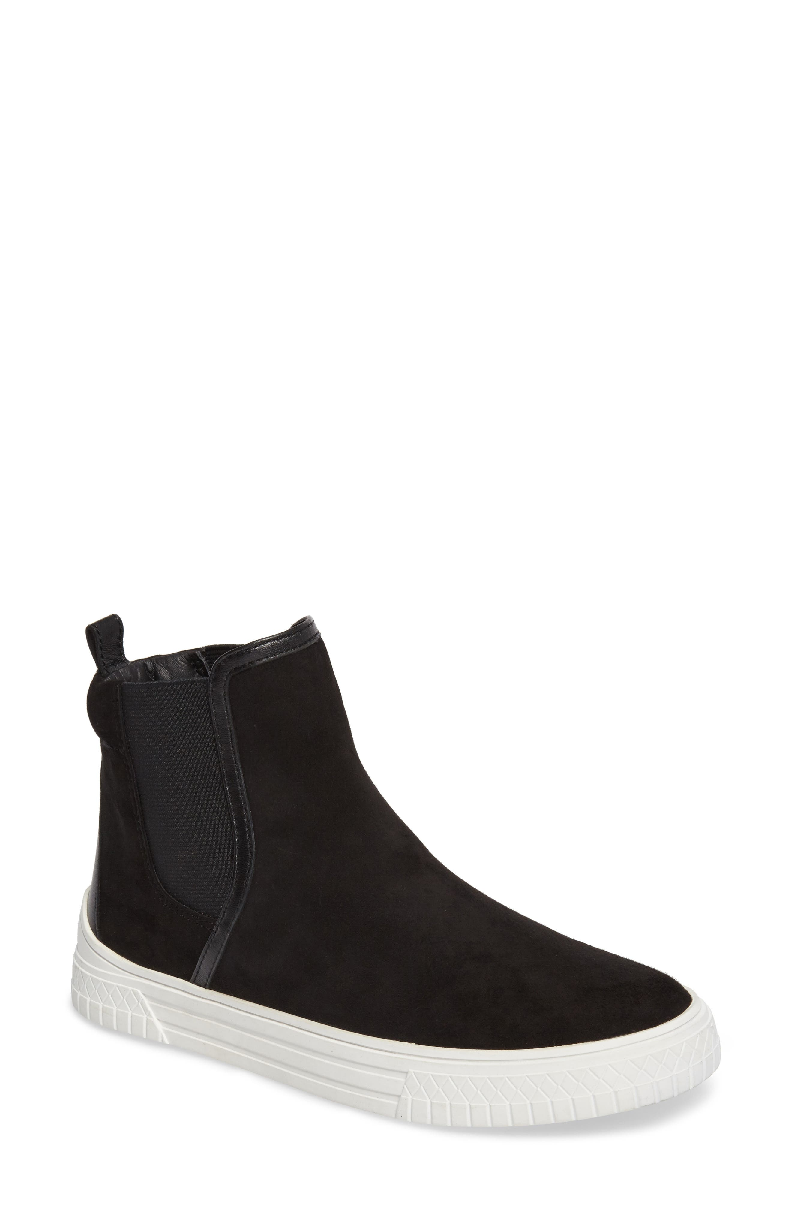 Gage Chelsea Boot,                             Main thumbnail 1, color,                             Black Suede