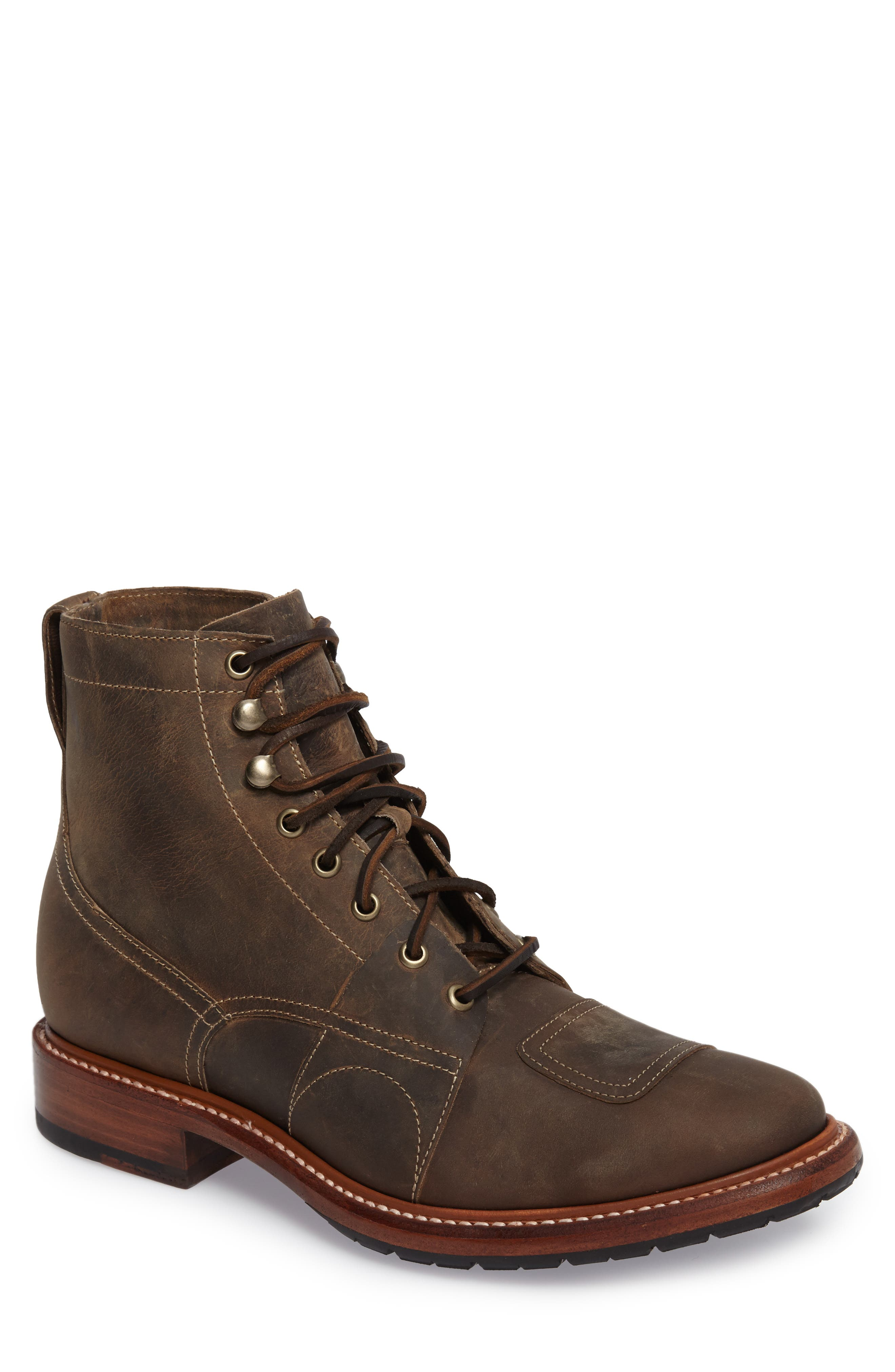Cypress Plain Toe Boot,                         Main,                         color, Brown Leather