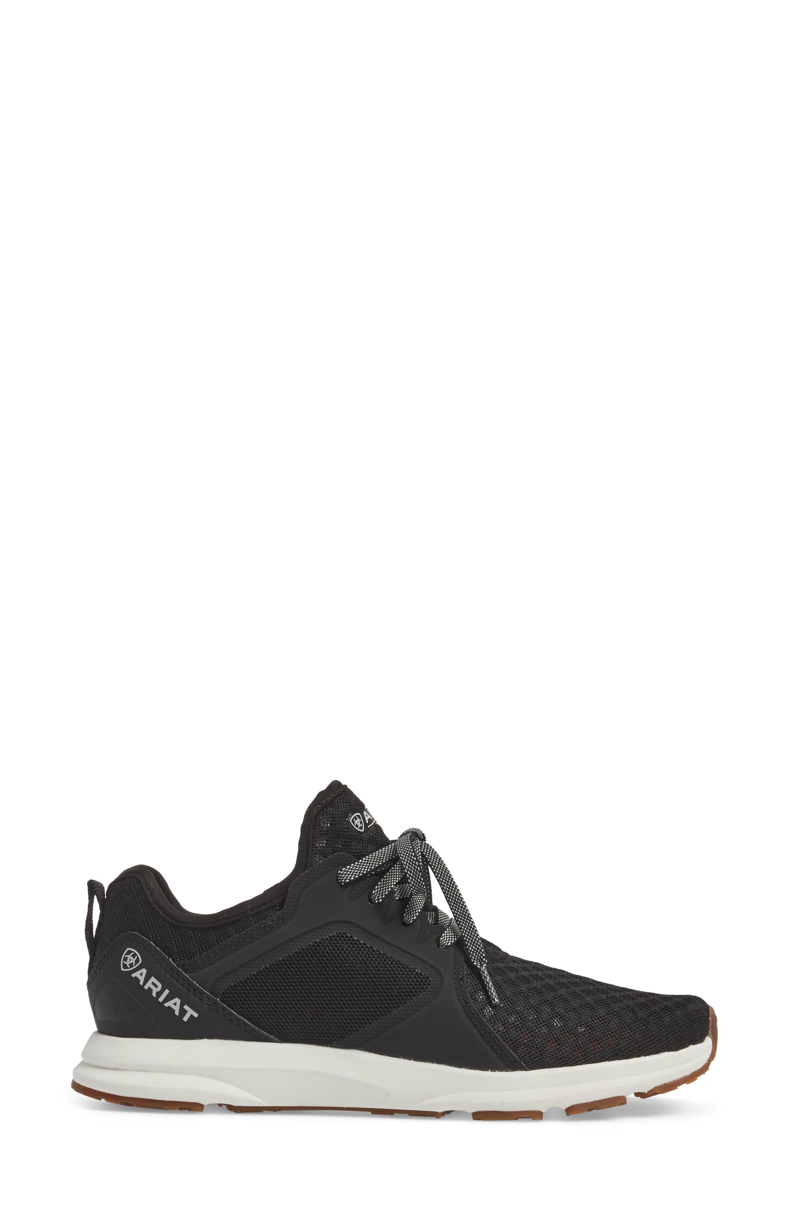Fuse Sneaker,                             Alternate thumbnail 3, color,                             Black Mesh