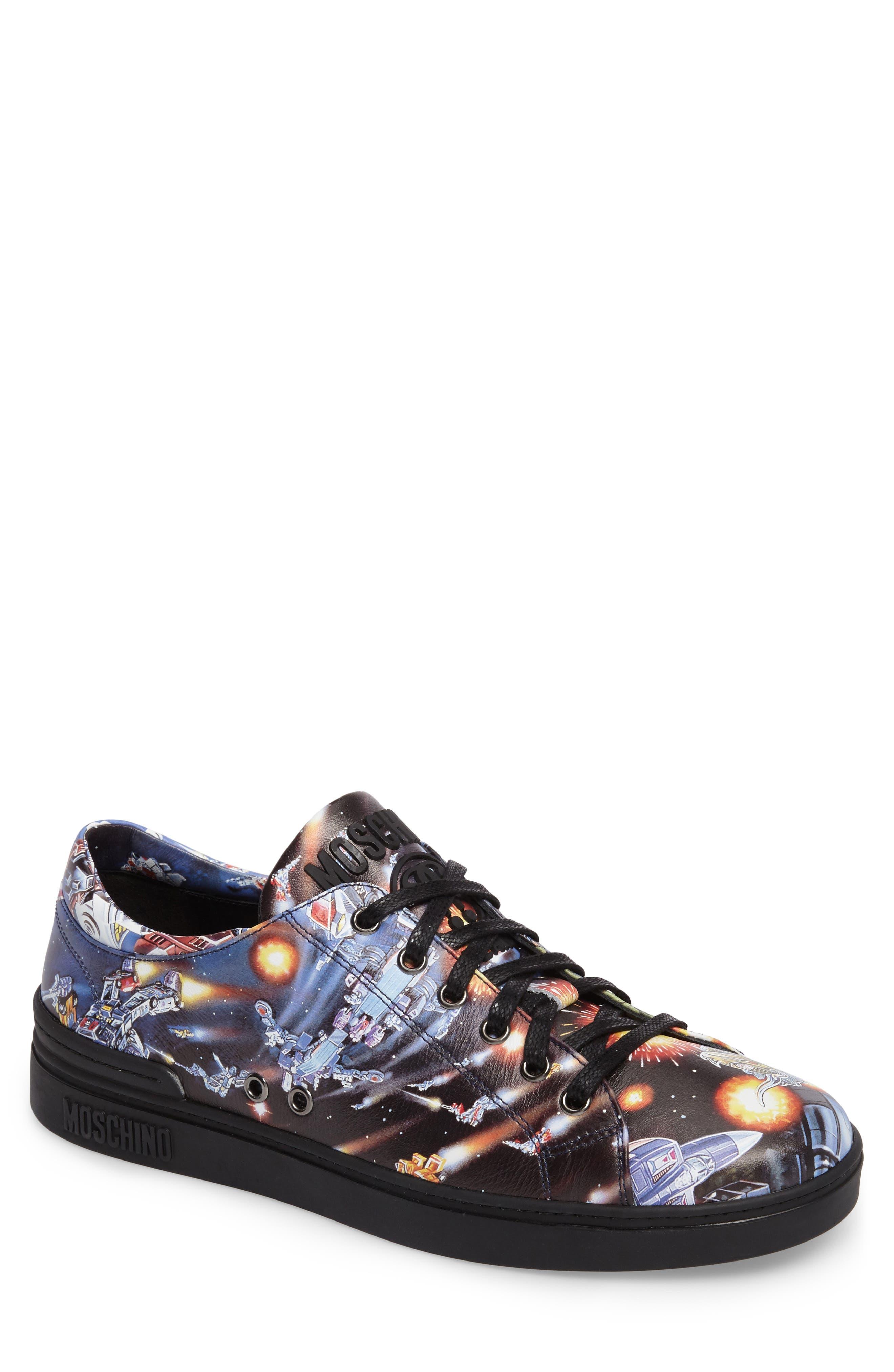 Moschino Transformers Print Low Top Sneaker (Men)