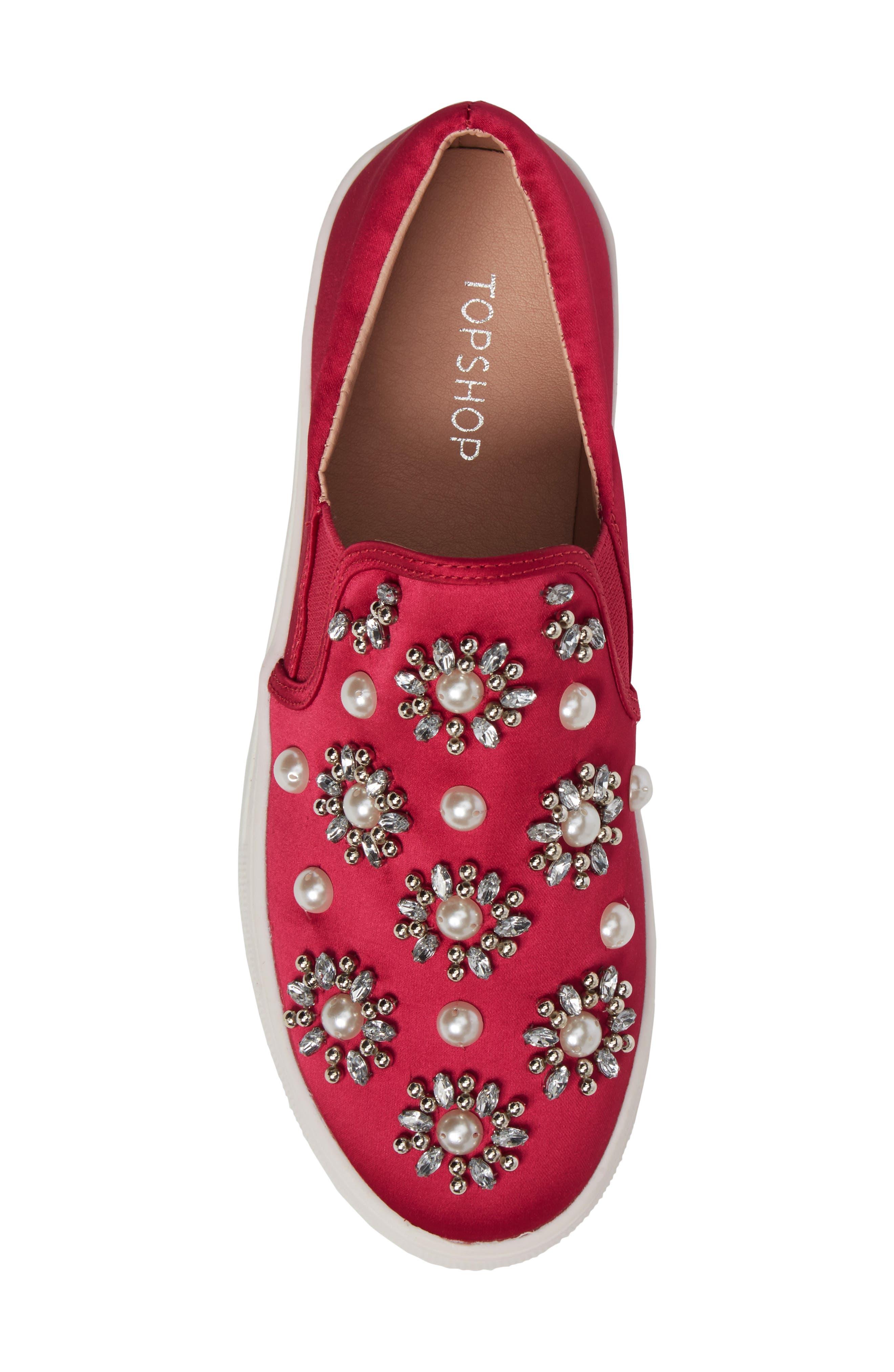 Tilt Embellished Slip-On Sneaker,                             Alternate thumbnail 5, color,                             Pink Multi