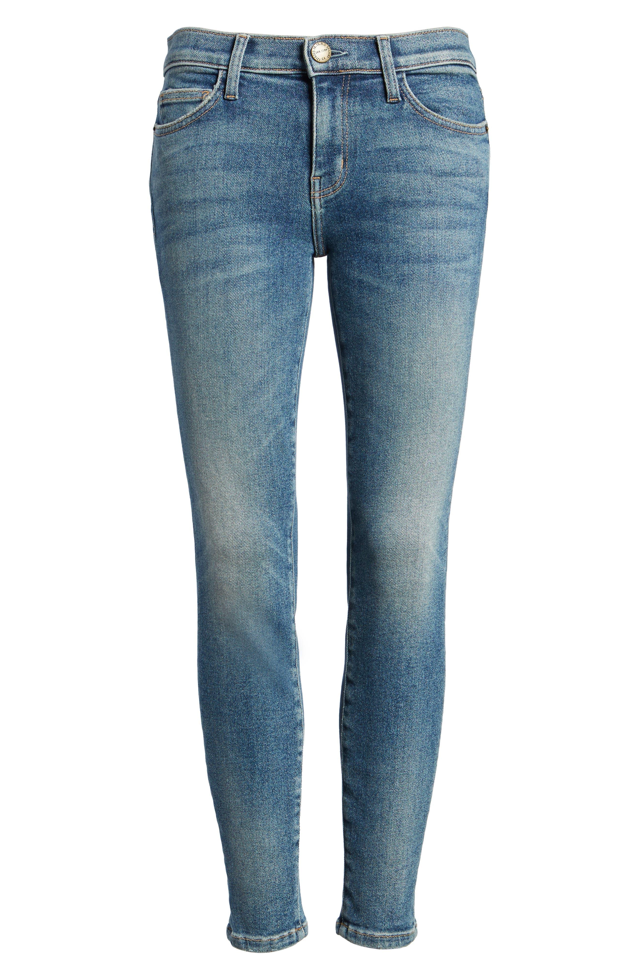 Alternate Image 6  - Current/Elliott The Stiletto Ankle Skinny Jeans (Ashurst)