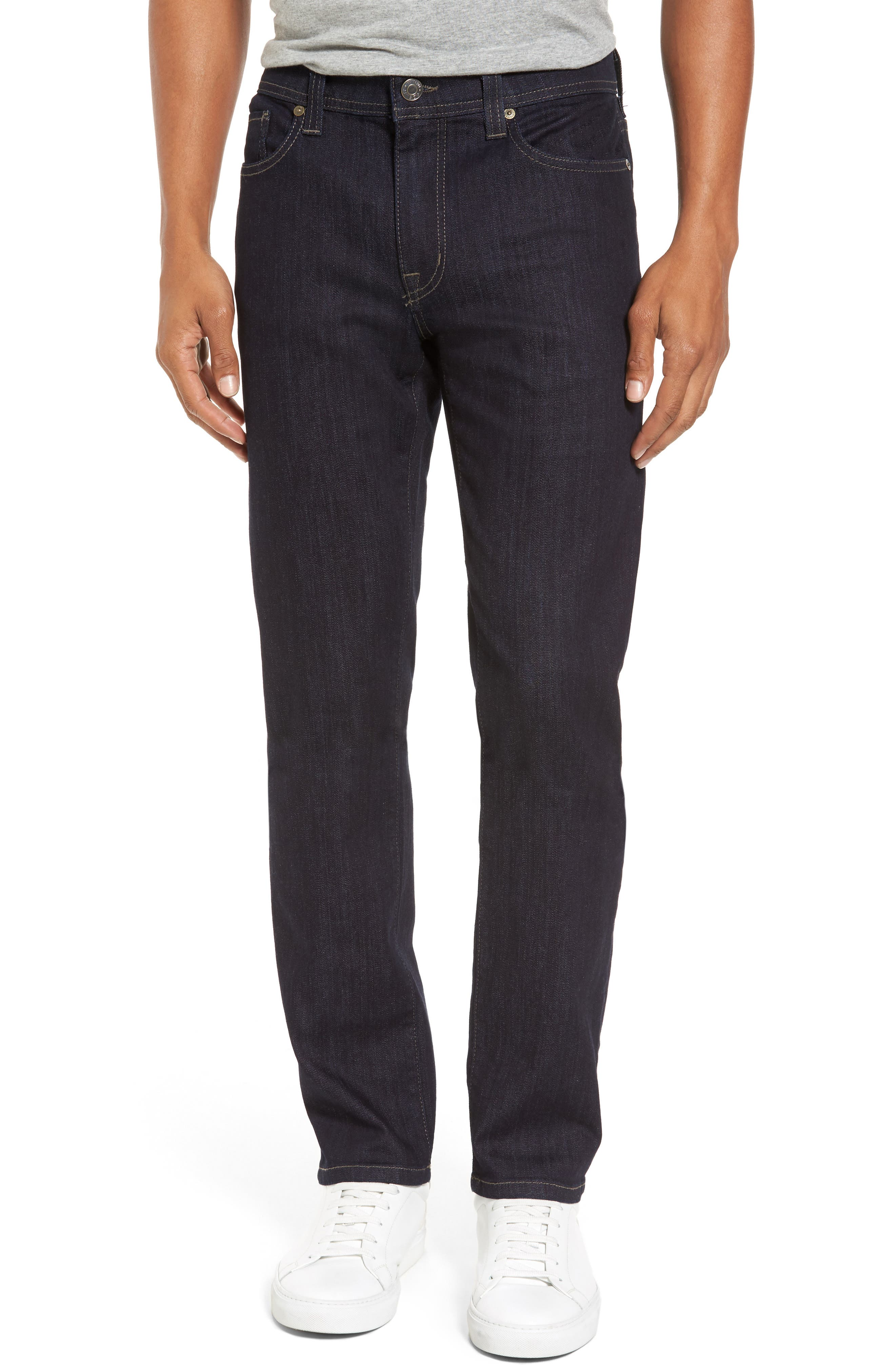 Alternate Image 1 Selected - Fidelity Denim Jimmy Slim Straight Leg Jeans (Galaxy Rinse)