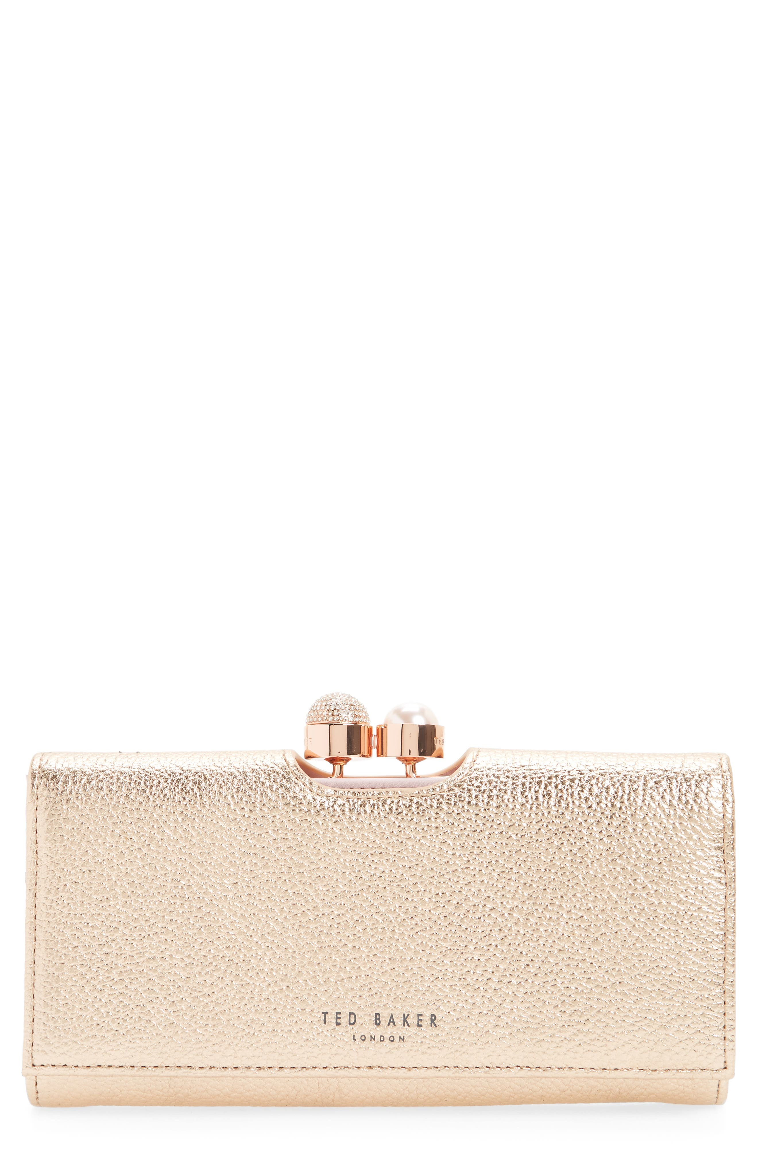 Main Image - Ted Baker London Marta Bobble Matinée Leather Wallet