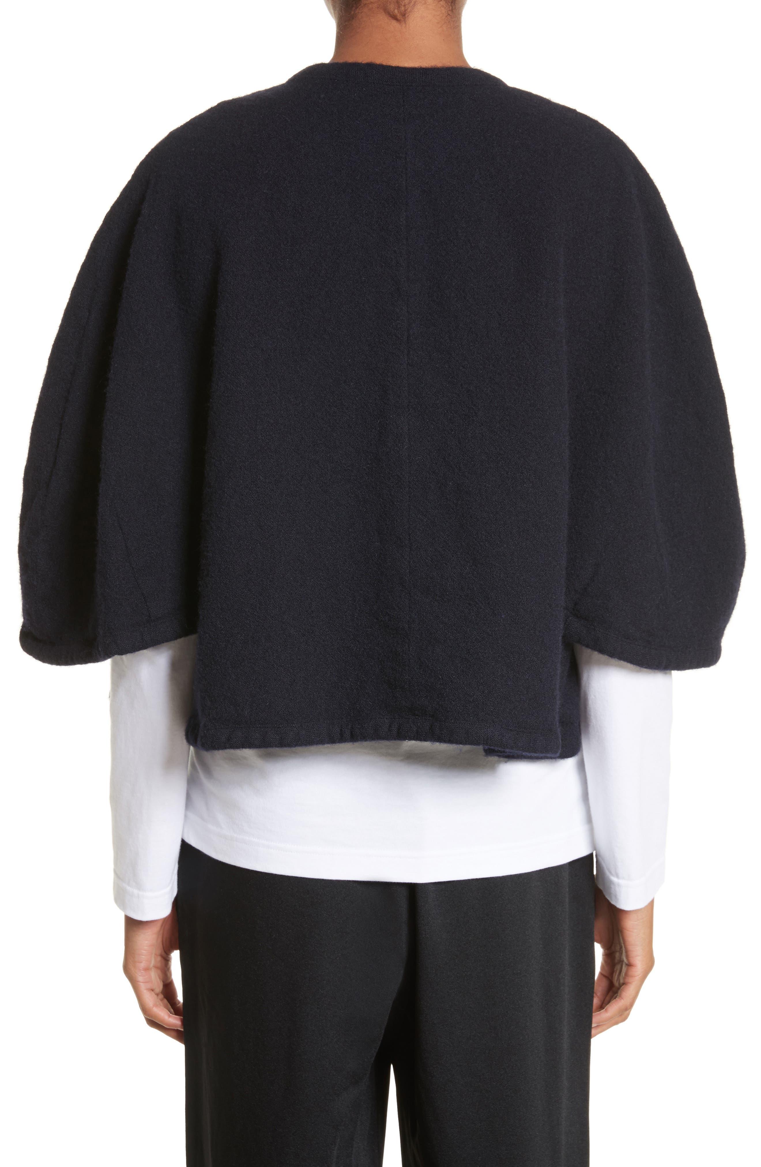 Elbow Sleeve Crop Jacket,                             Alternate thumbnail 2, color,                             Navy