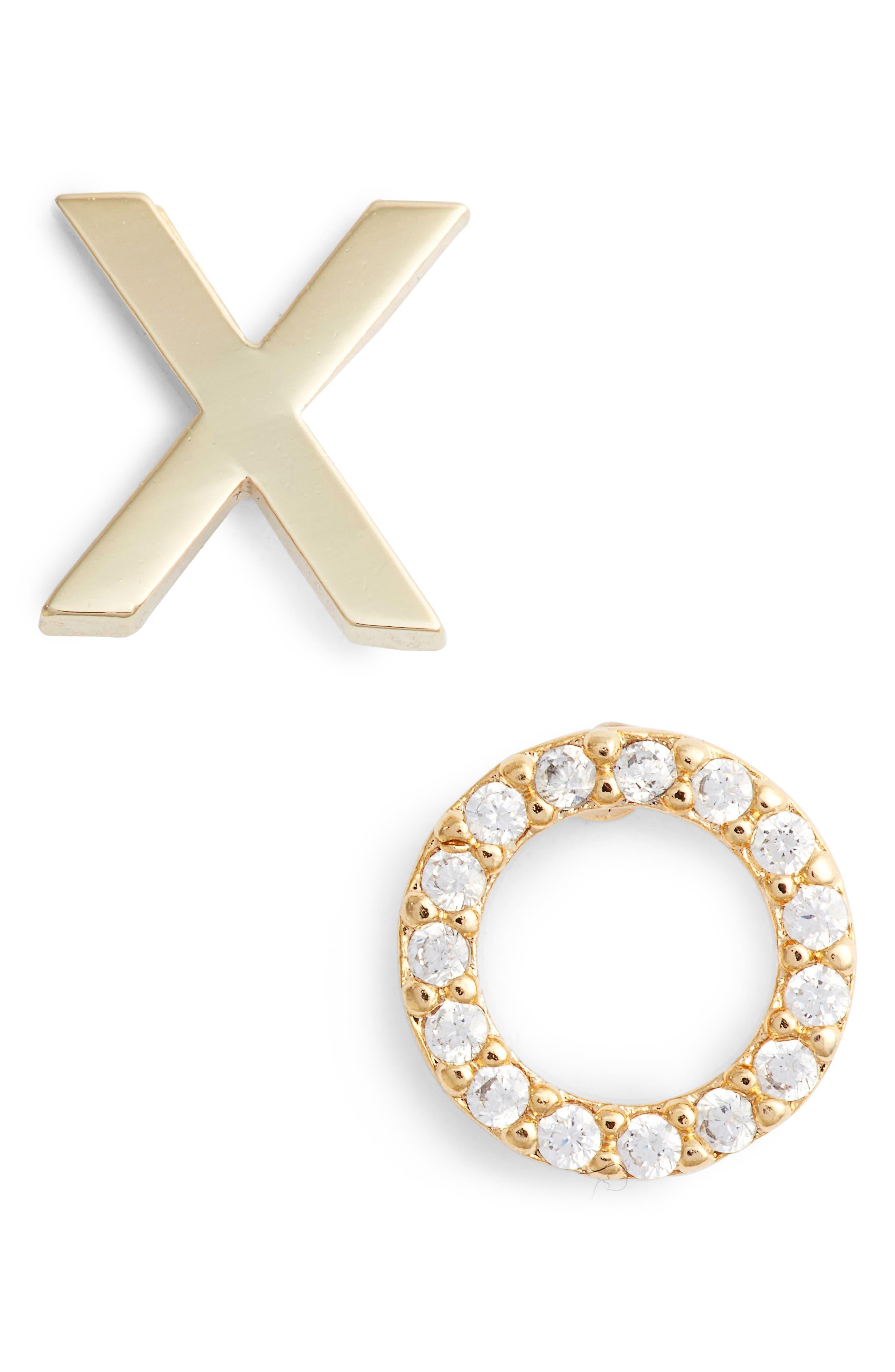 Alternate Image 1 Selected - Estella Bartlett XO Stud Earrings
