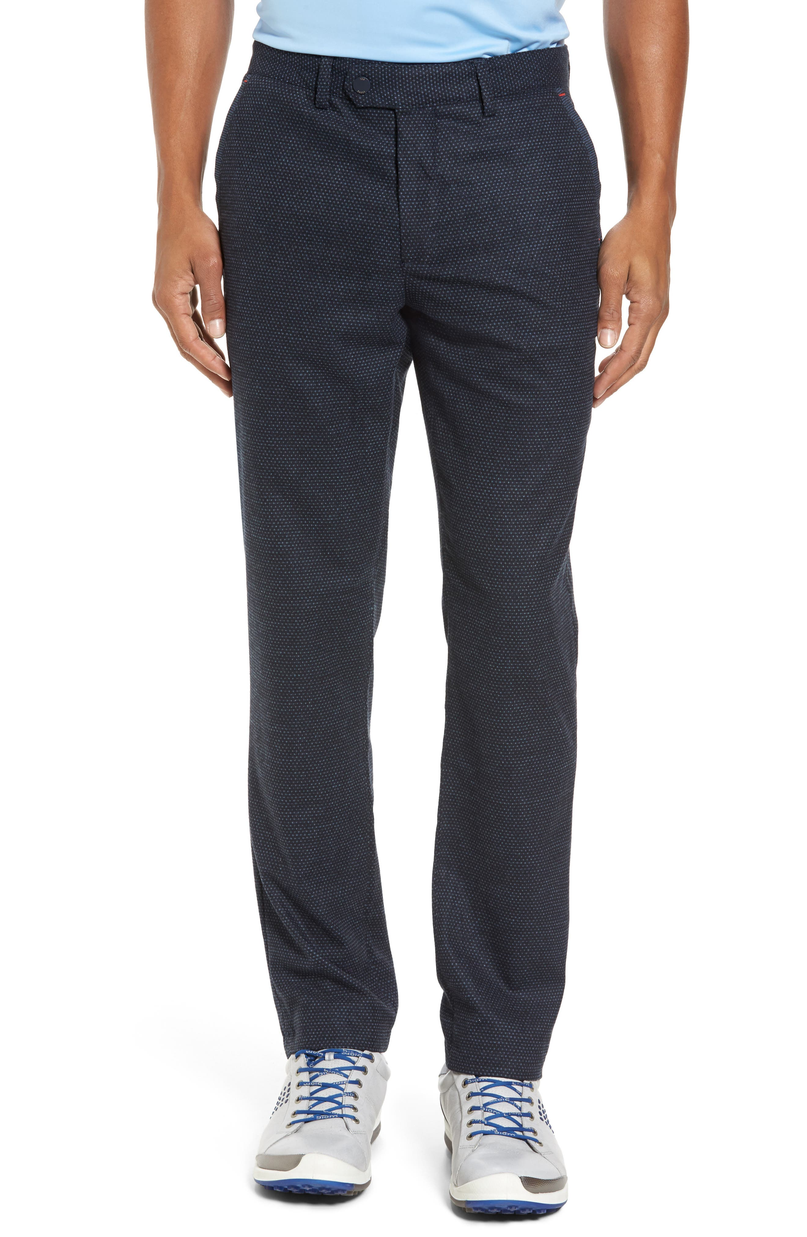 Water Resistant Golf Trousers,                         Main,                         color, Navy