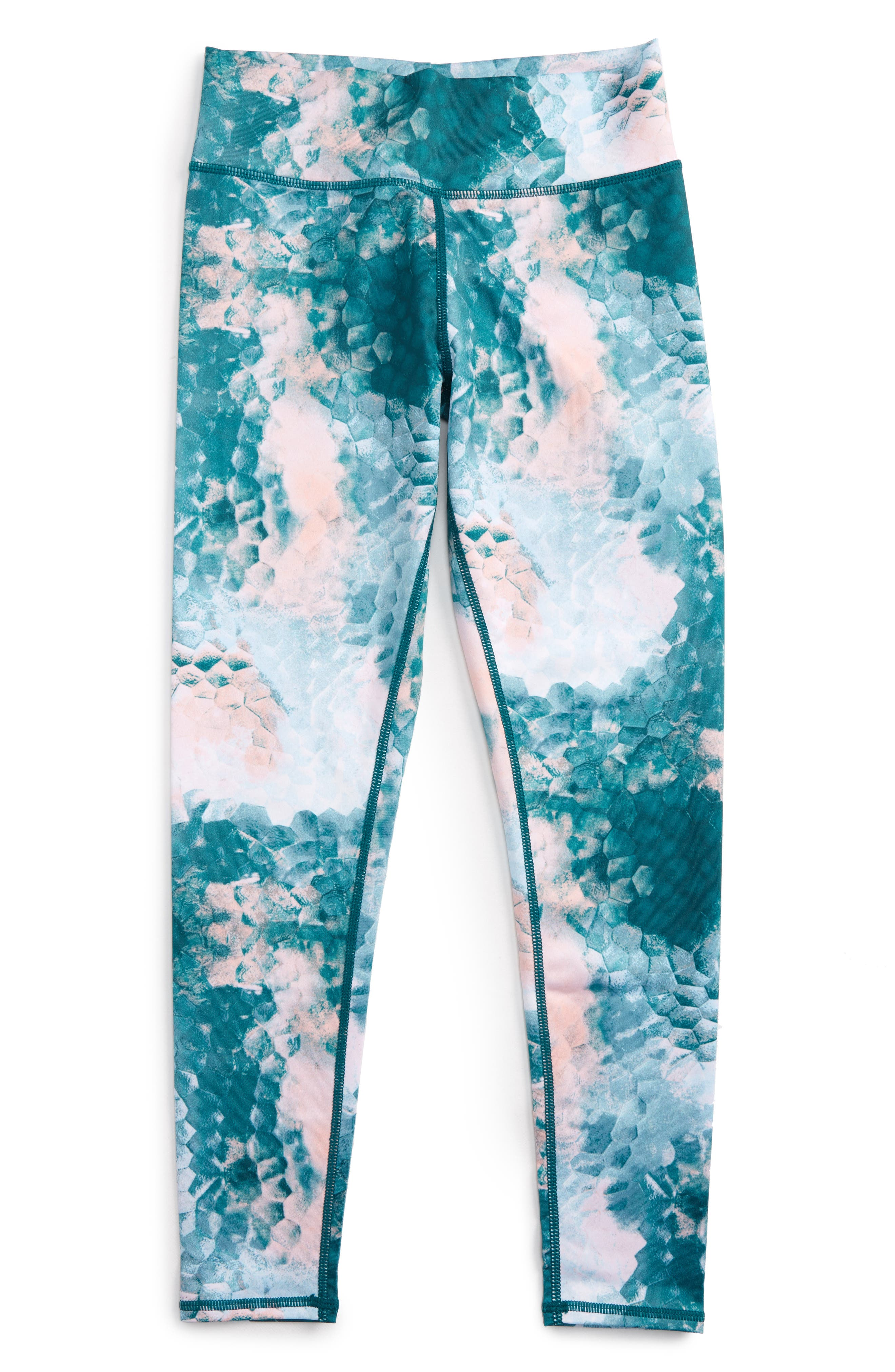 Alternate Image 1 Selected - Zella Girl High Waist Print Leggings (Little Girls & Big Girls)
