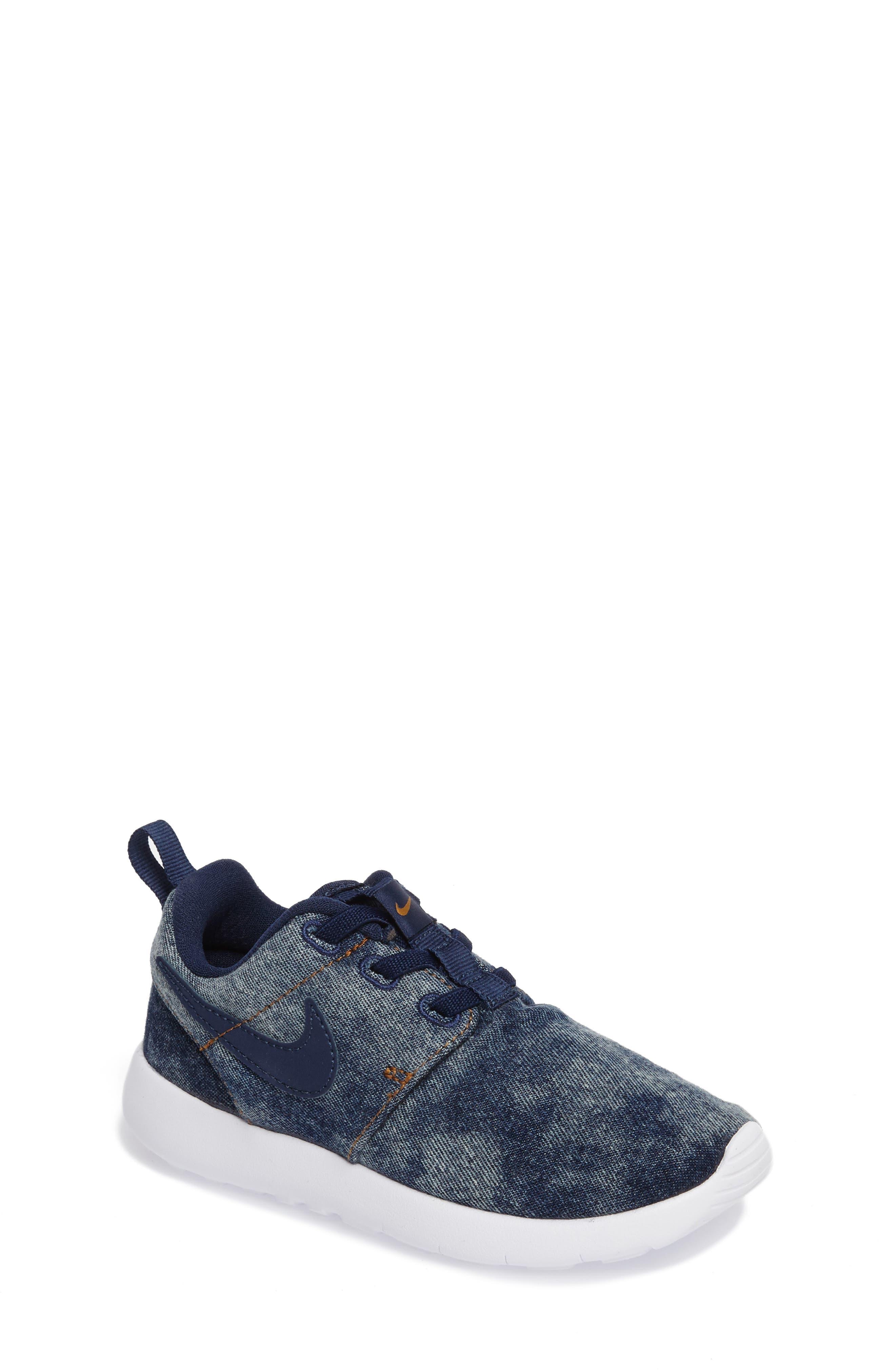 Roshe One SE Sneaker,                             Main thumbnail 1, color,                             Midnight Navy/ White
