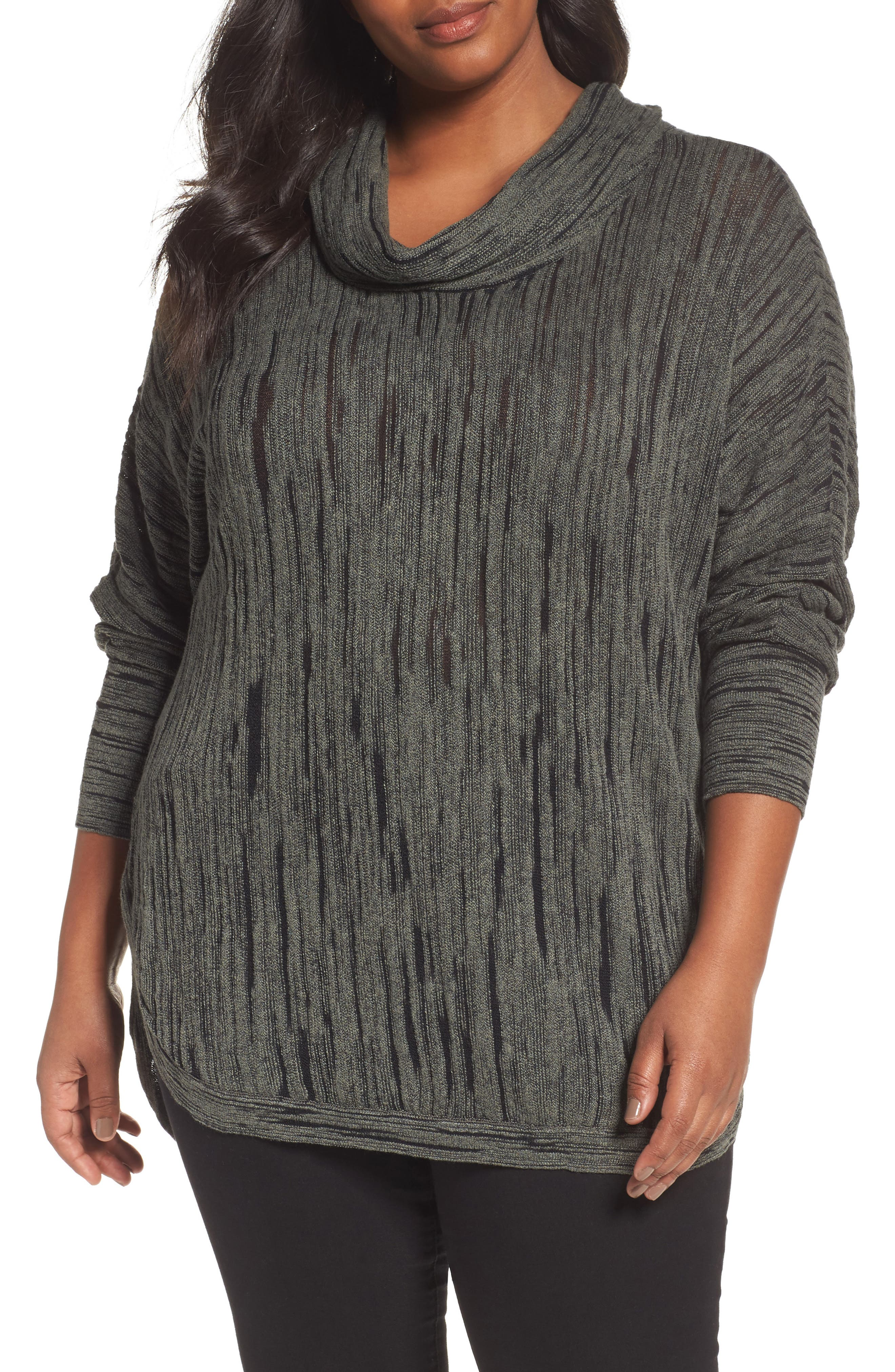 Alternate Image 1 Selected - NIC+ZOE Cowl Neck Top (Plus Size)