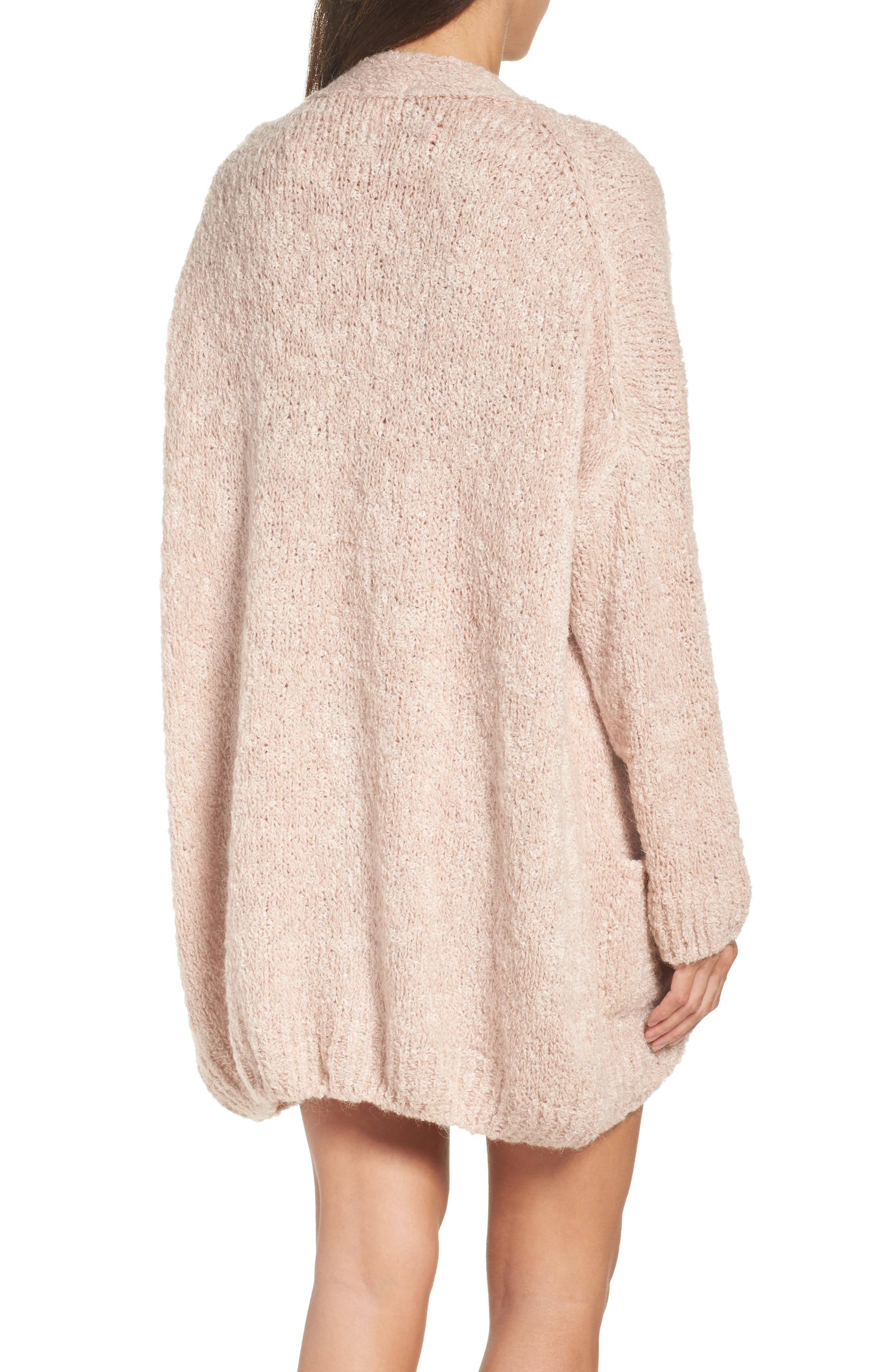 Lana Oversize Cardigan,                             Alternate thumbnail 2, color,                             Cameo Pink