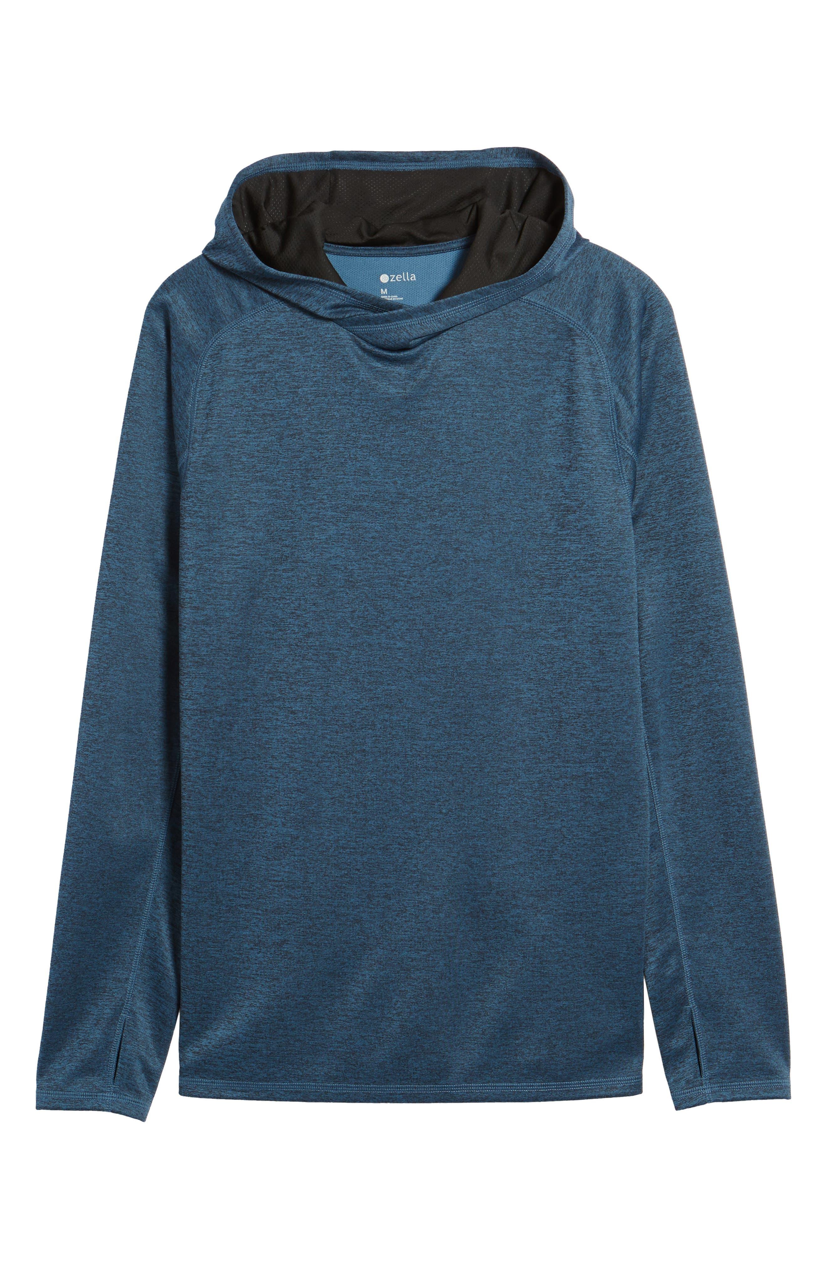 Lightweight Pullover Hoodie,                             Alternate thumbnail 6, color,                             Blue Chrome Melange