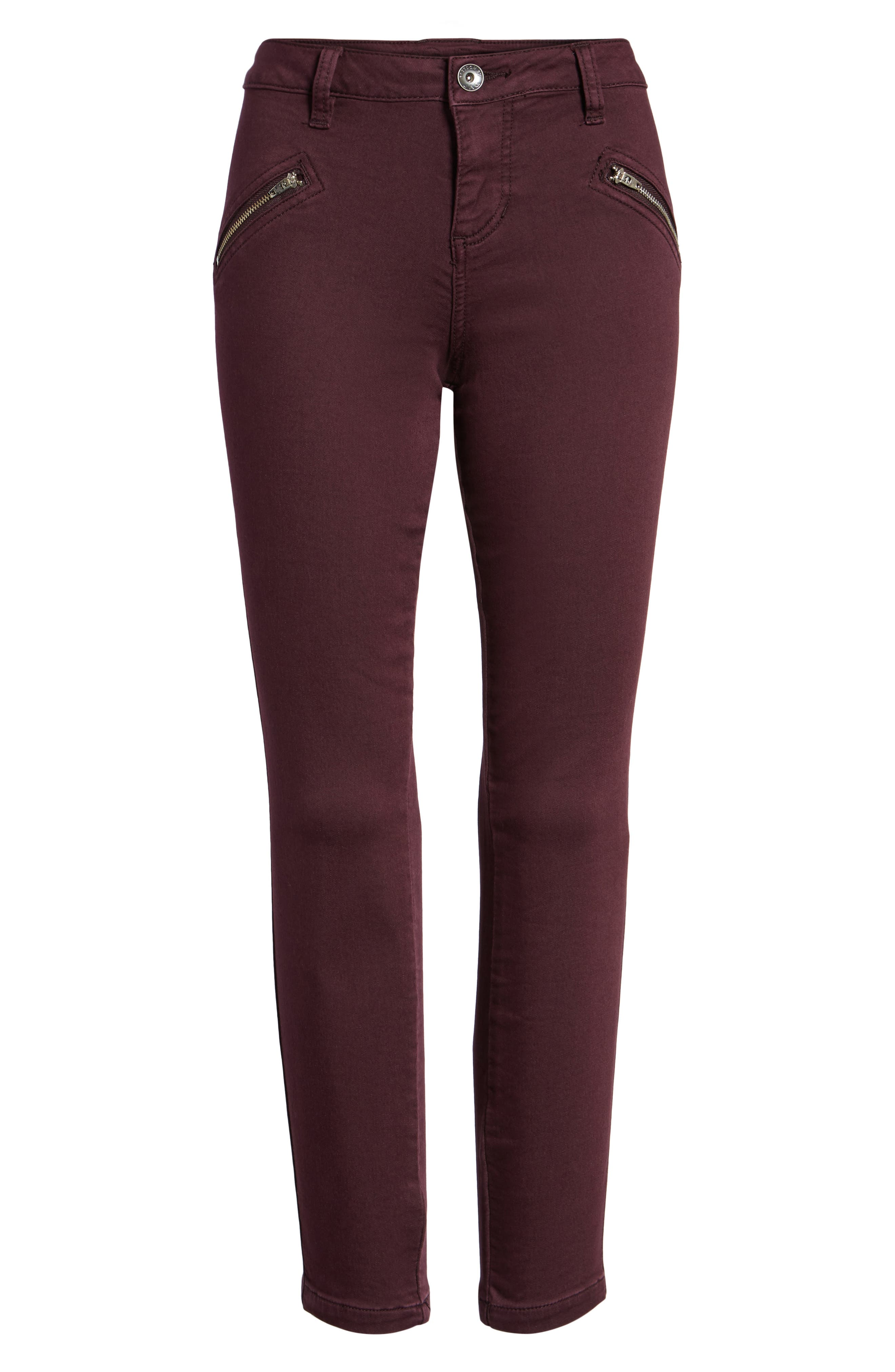 Alternate Image 6  - Jag Jeans Ryan Knit Skinny Jeans (Plum Noir)