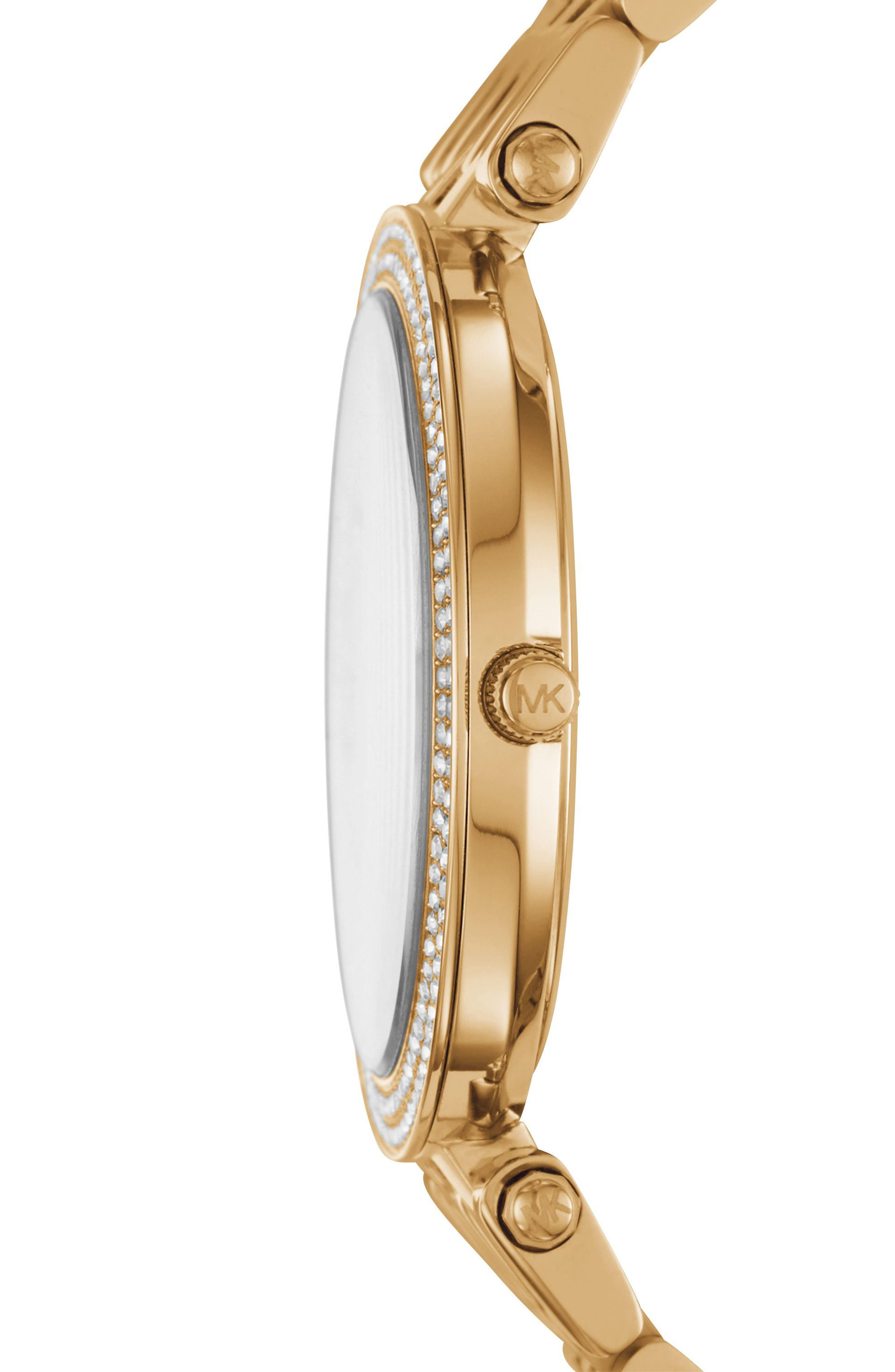 Darci Star Bracelet Watch, 39mm,                             Alternate thumbnail 2, color,                             Gold/ White/ Gold