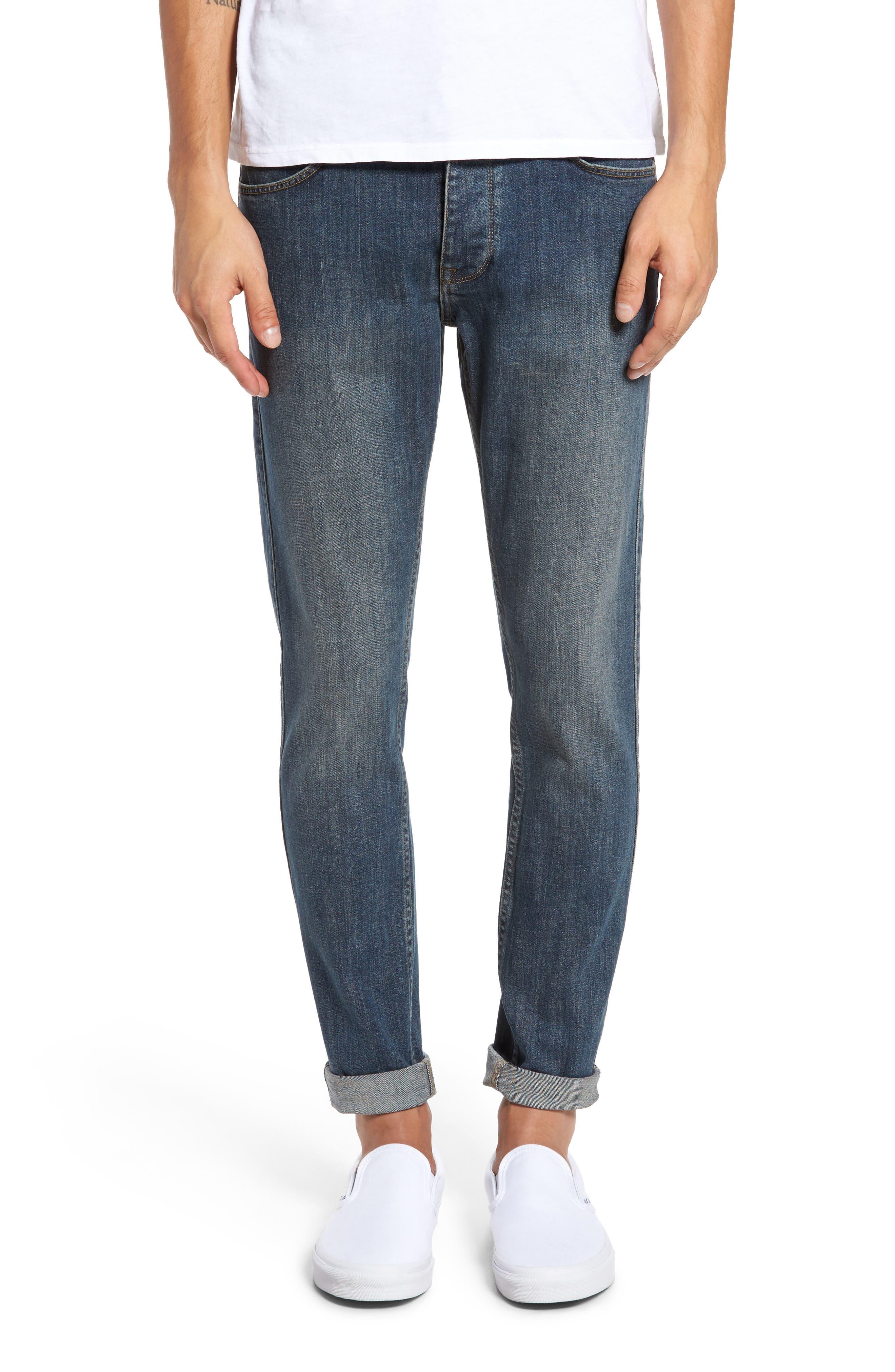 Main Image - Dr. Denim Supply Co. Clark Slim Straight Leg Jeans (90s Mid Blue)