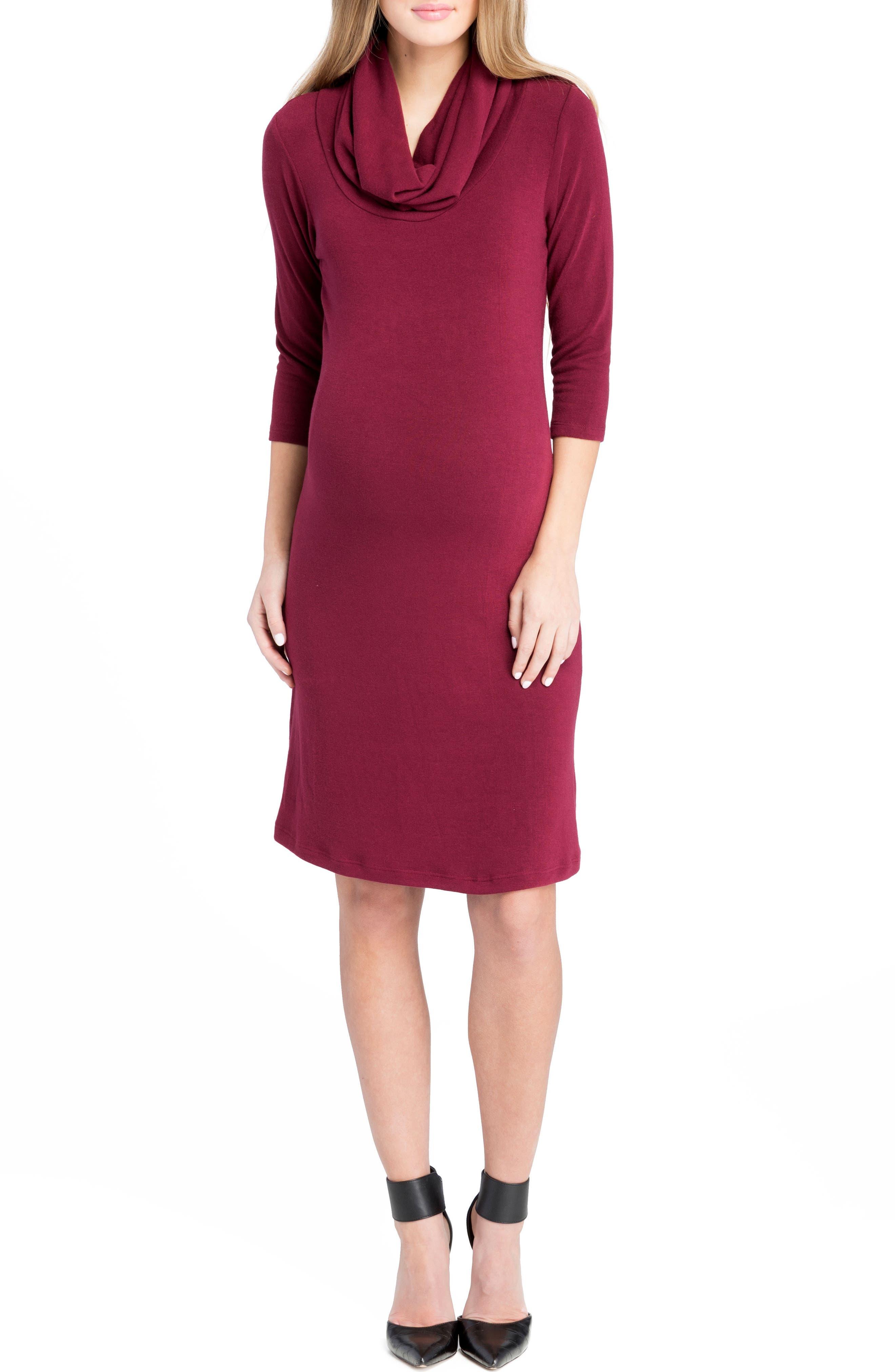 Main Image - Lilac Clothing Cowl Neck Maternity Dress