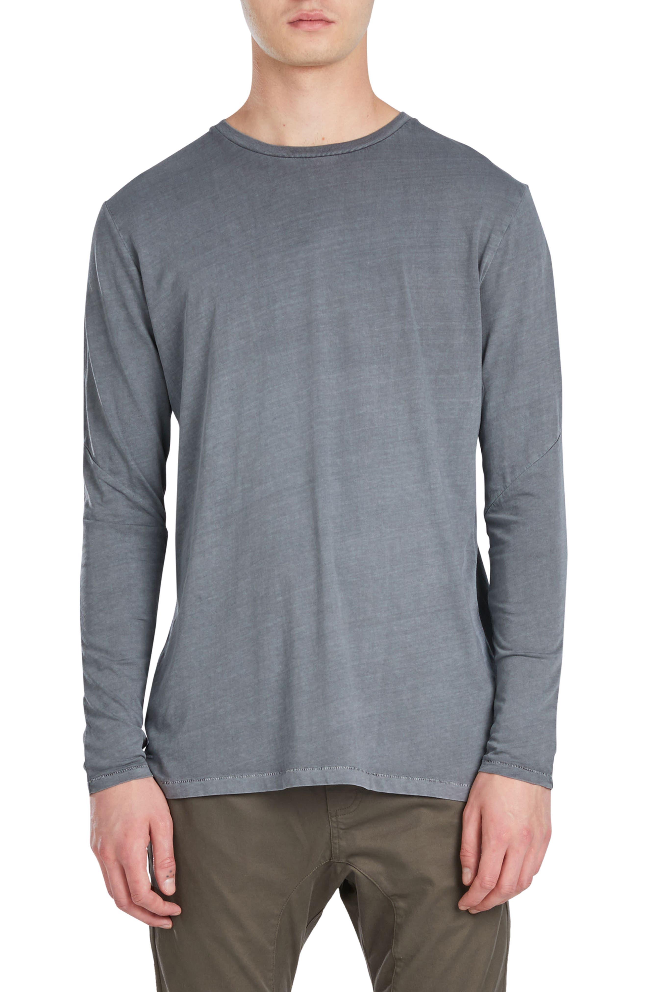 Flintlock Longline T-Shirt,                         Main,                         color, Pigment Grey