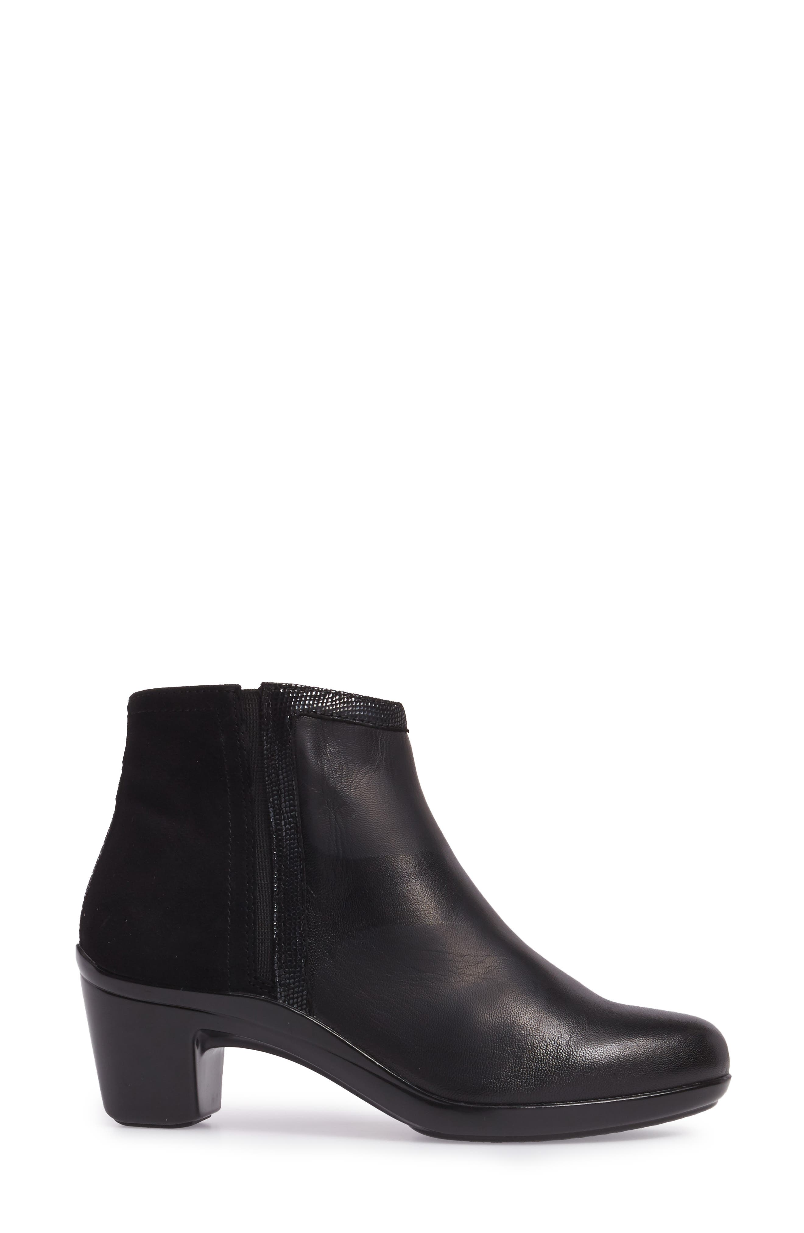Lexee Wateproof Bootie,                             Alternate thumbnail 3, color,                             Black Leather