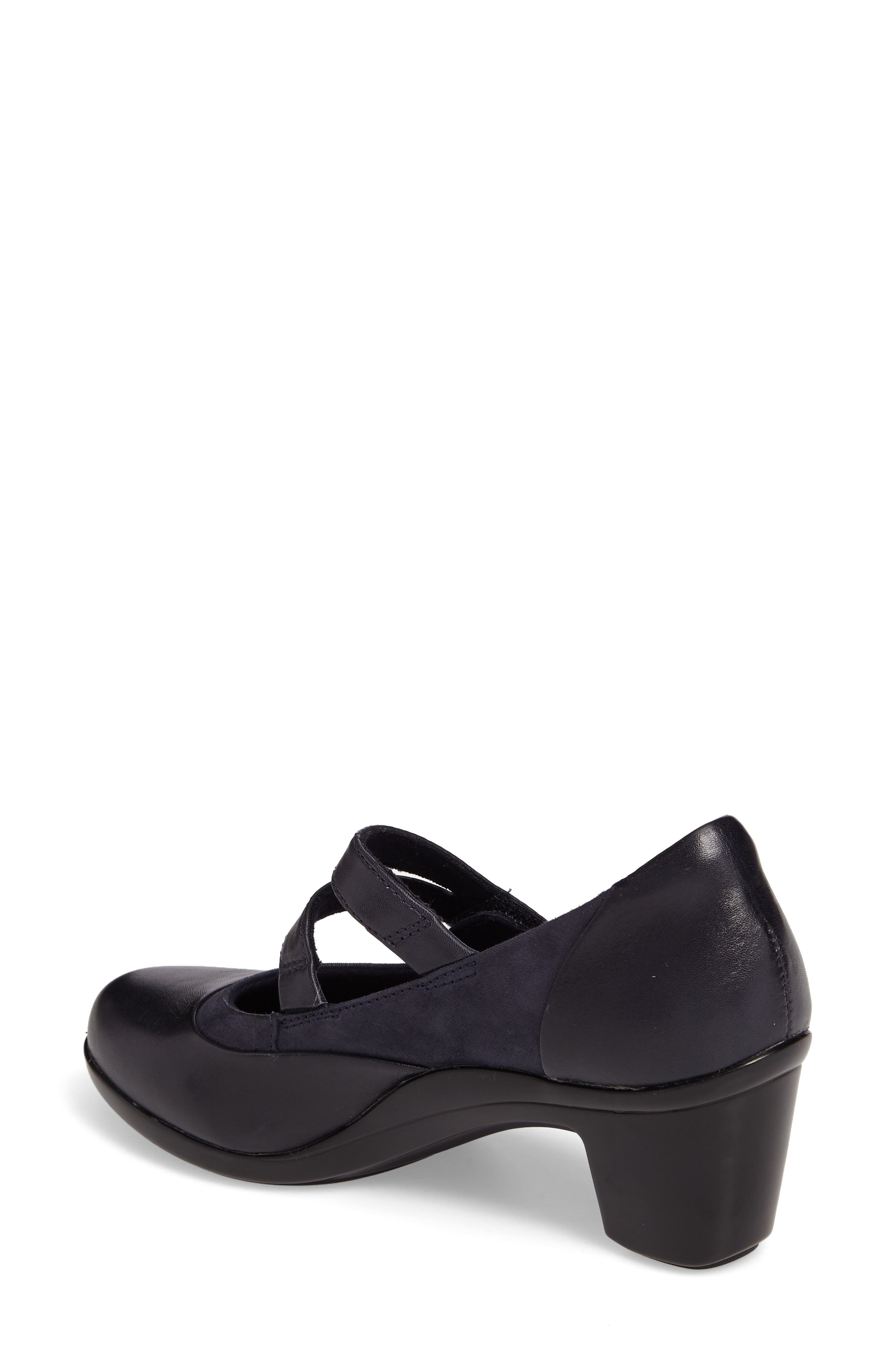 Lexee Mary Jane Pump,                             Alternate thumbnail 2, color,                             Navy Leather