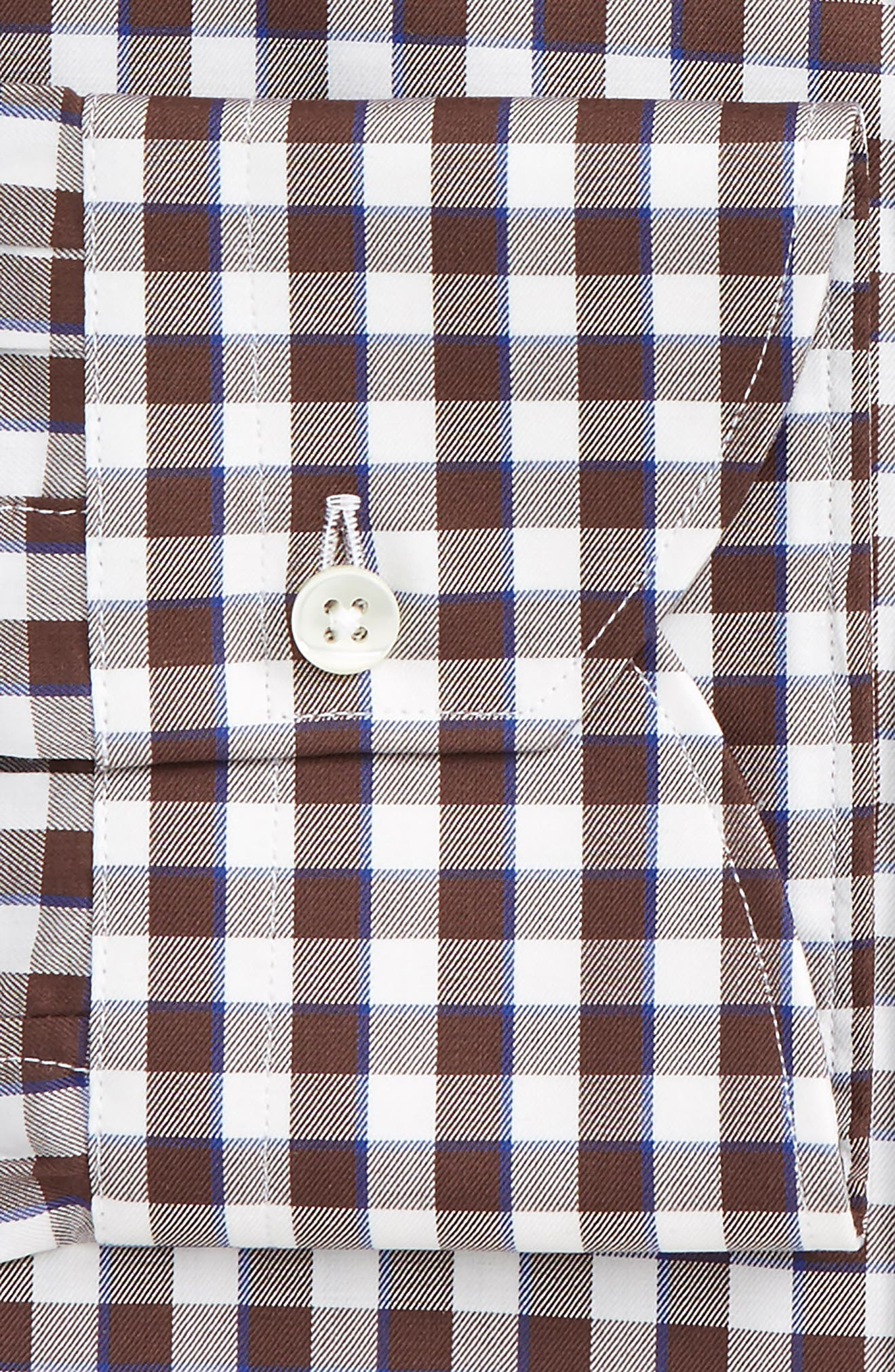 Alternate Image 2  - Canali Regular Fit Check Dress Shirt