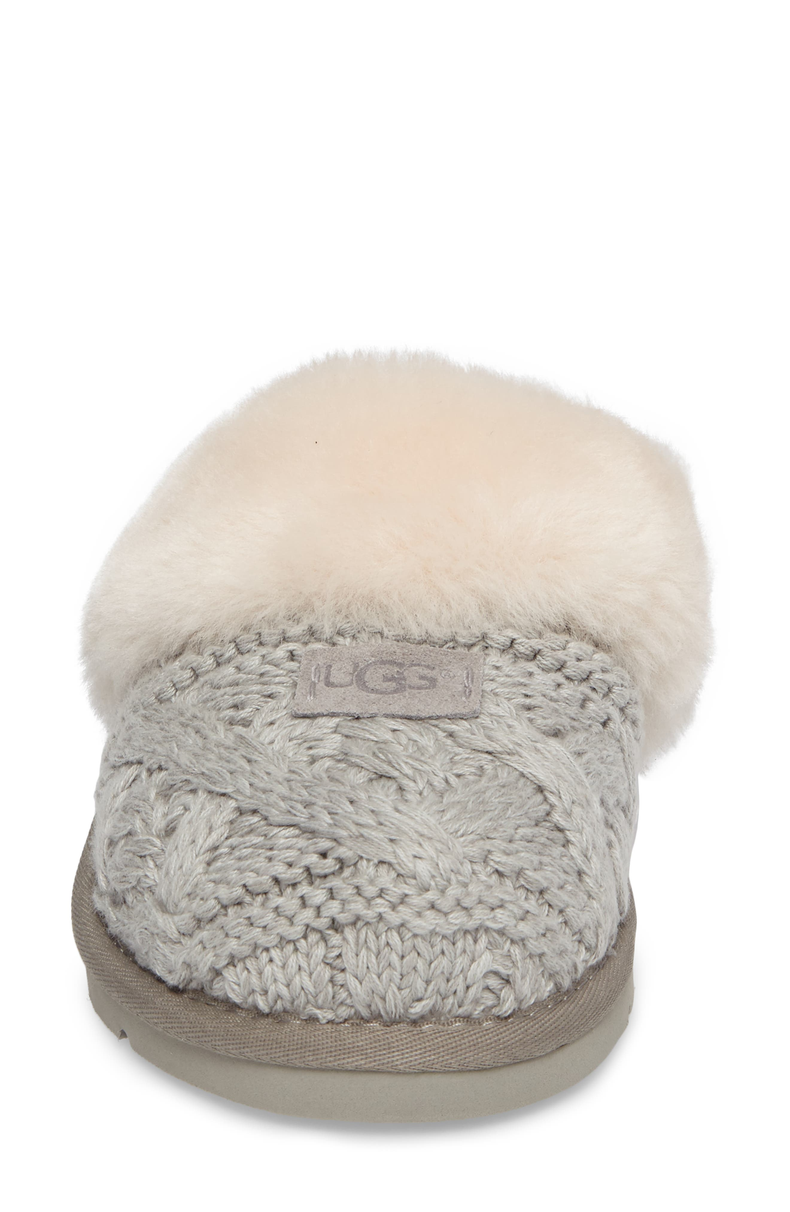 Cozy Cable Slipper,                             Alternate thumbnail 5, color,                             Seal Fabric