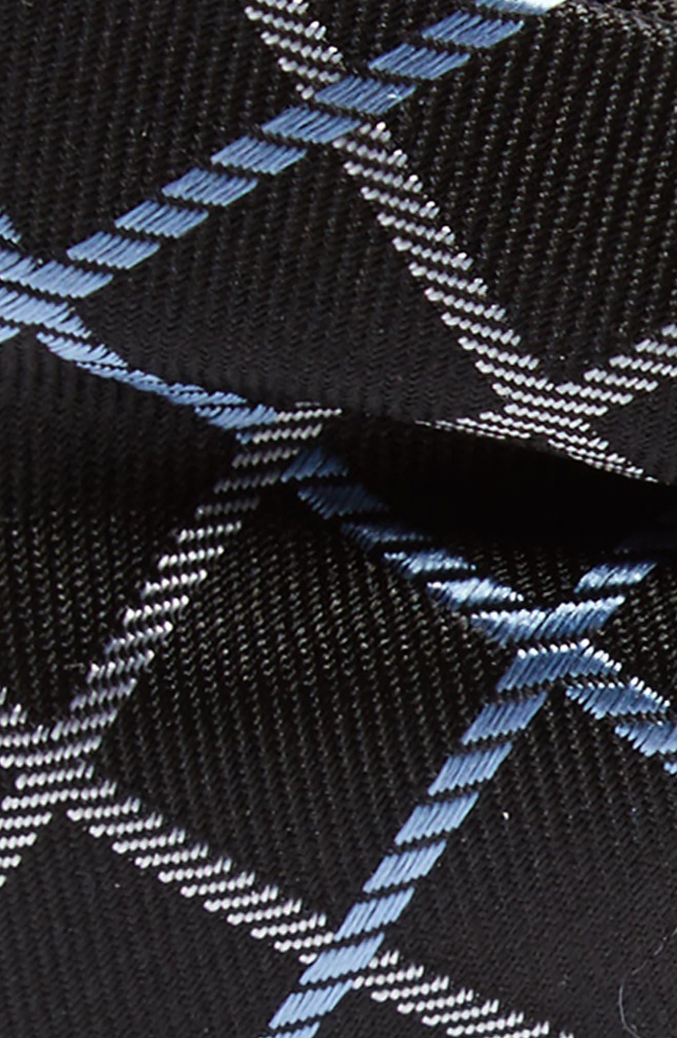 Plaid Silk Bow Tie,                             Alternate thumbnail 2, color,                             Black