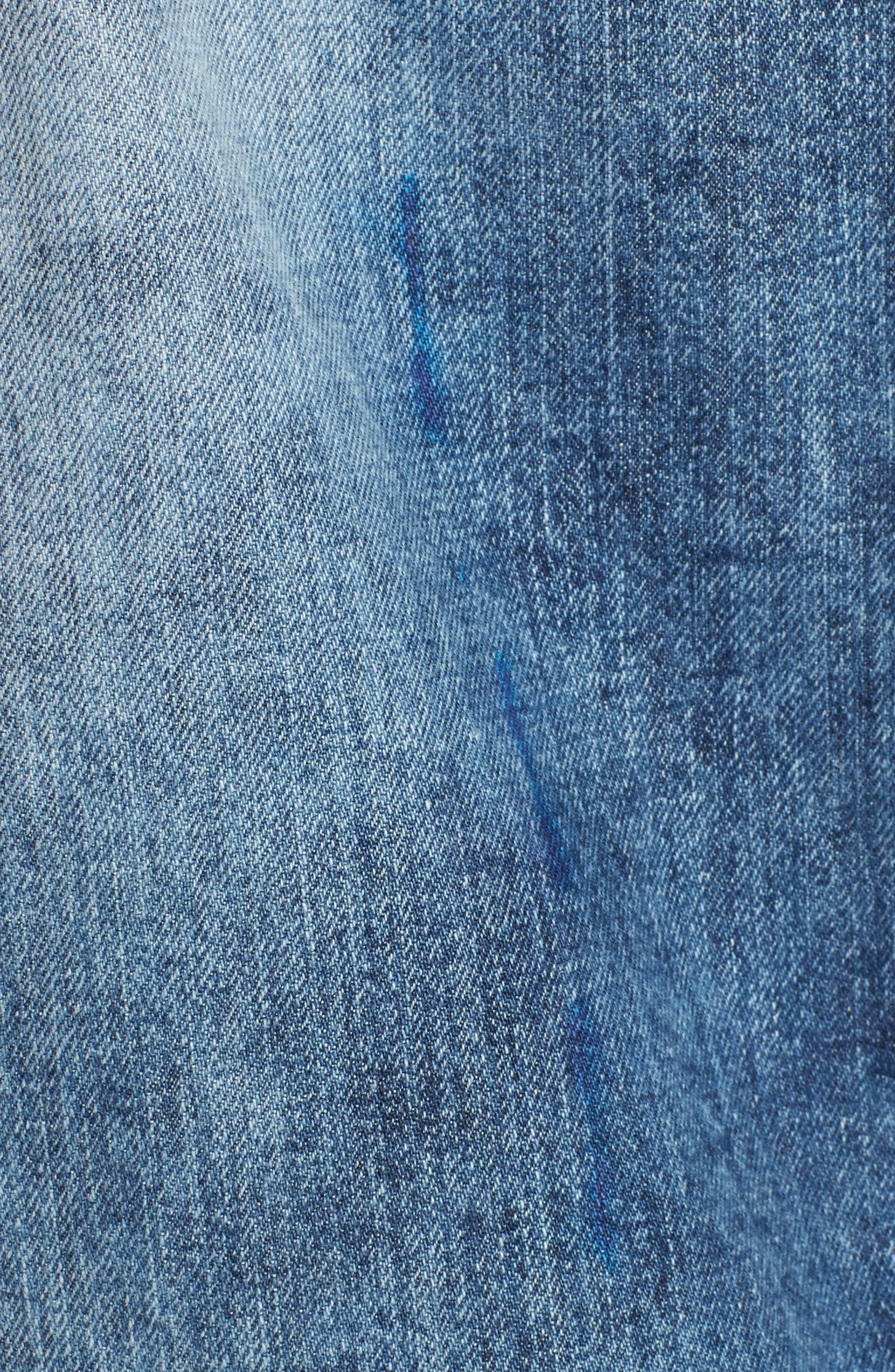 Denim Jacket,                             Alternate thumbnail 5, color,                             Rainy Medium Wash