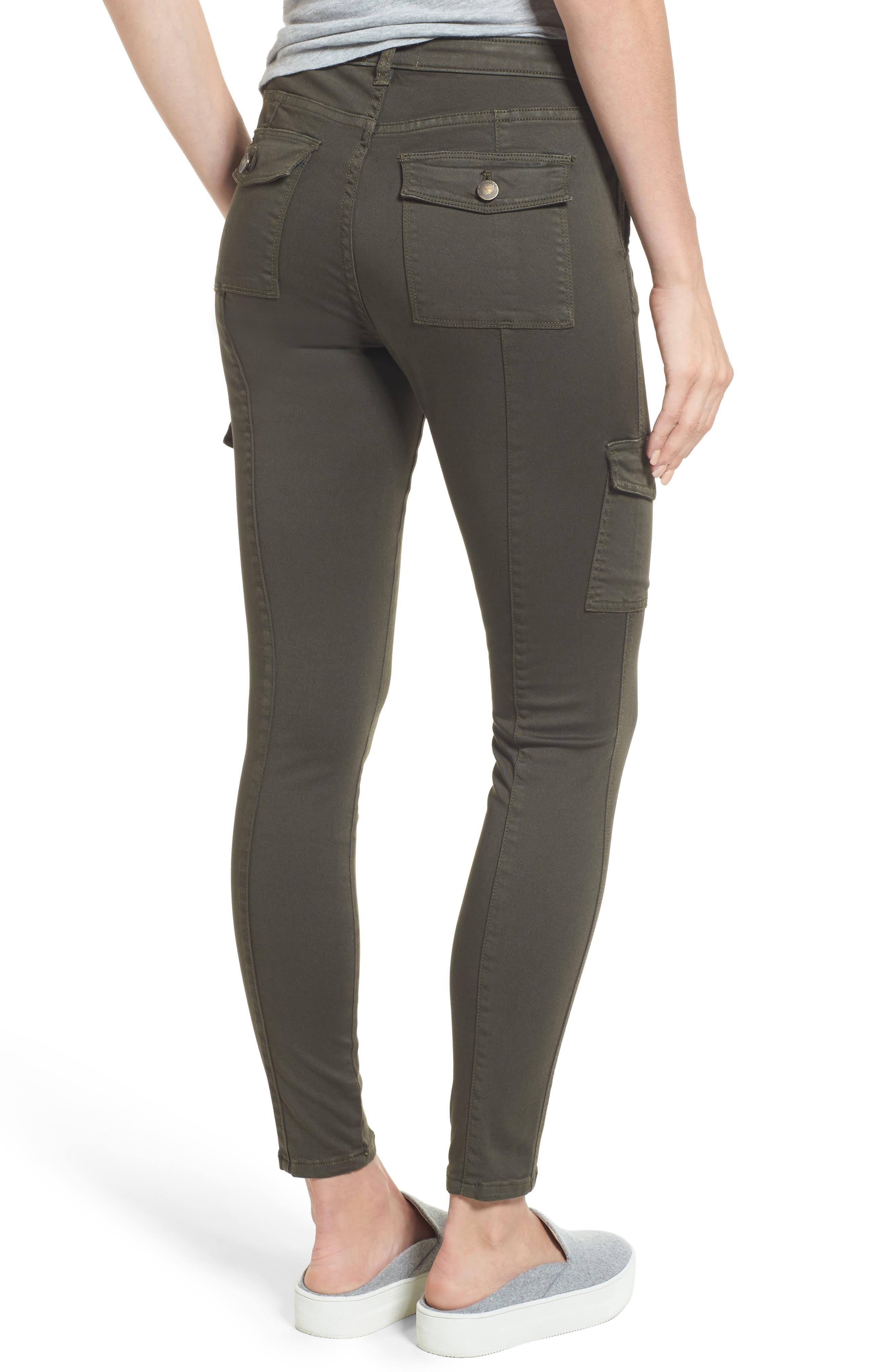 Alternate Image 2  - Caslon® Skinny Cargo Pants (Regular & Petite)