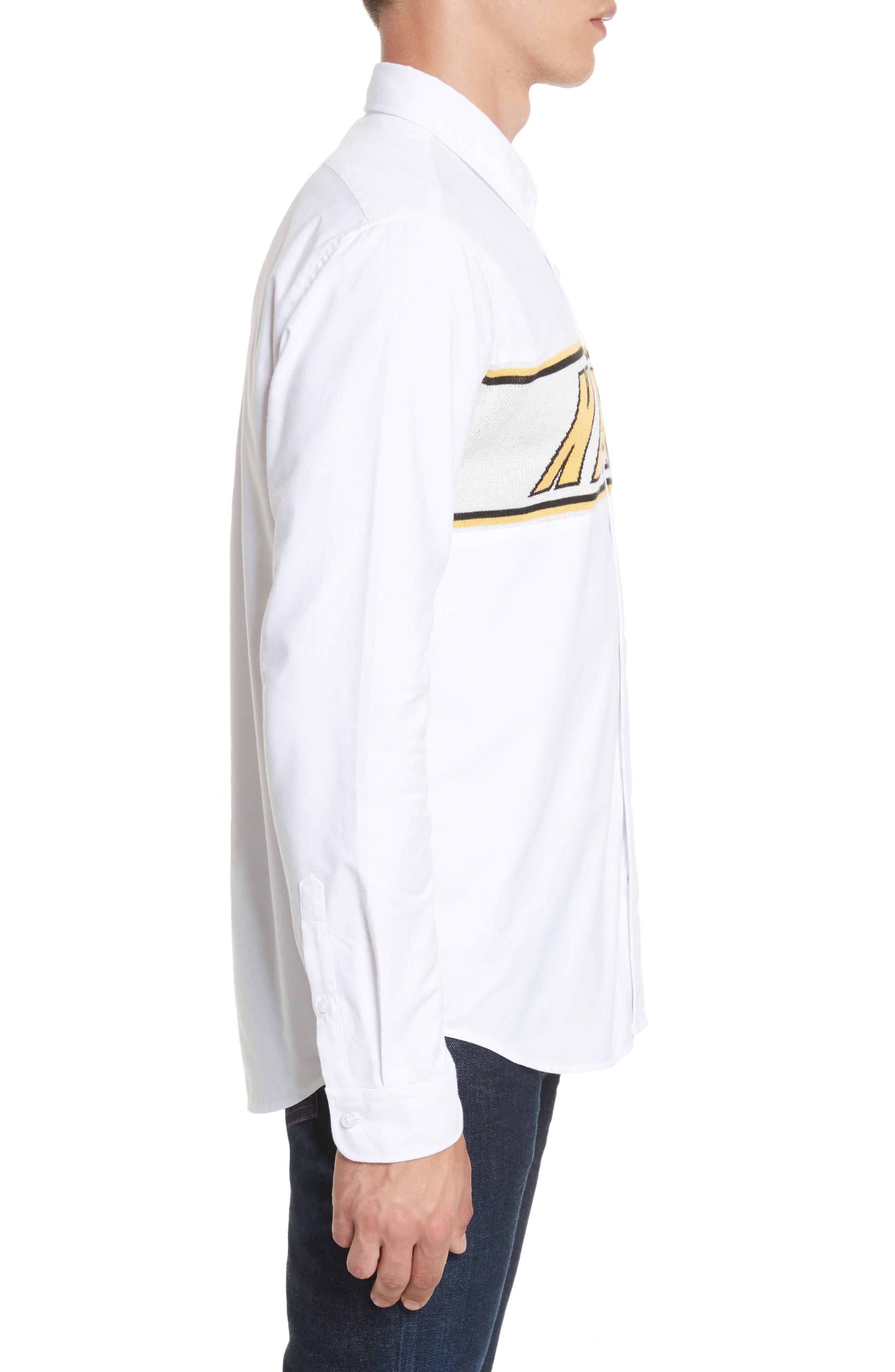 Alternate Image 3  - KENZO Knit Logo Woven Shirt