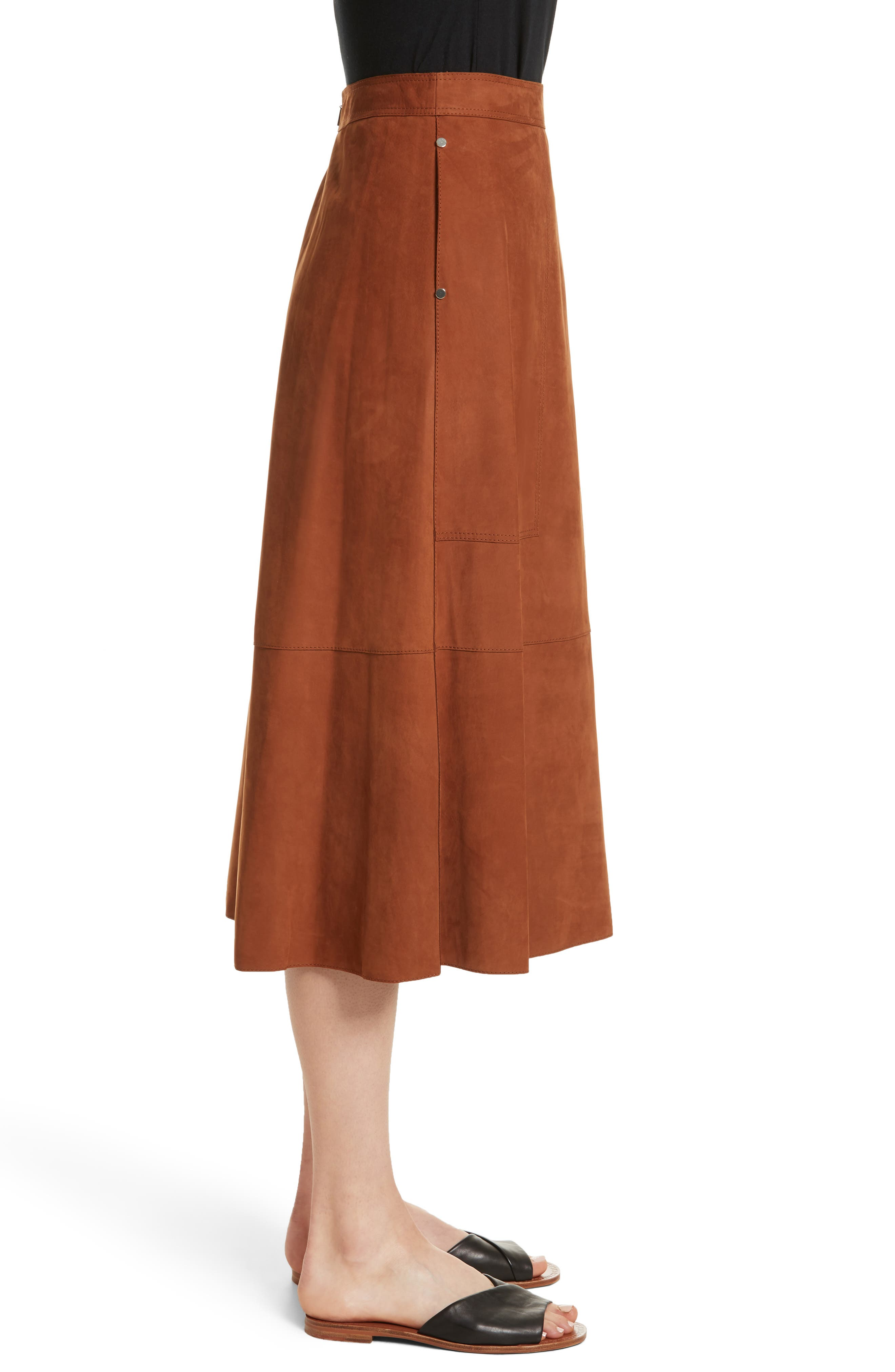 Alternate Image 3  - Lafayette 148 New York Rosella Leather Skirt