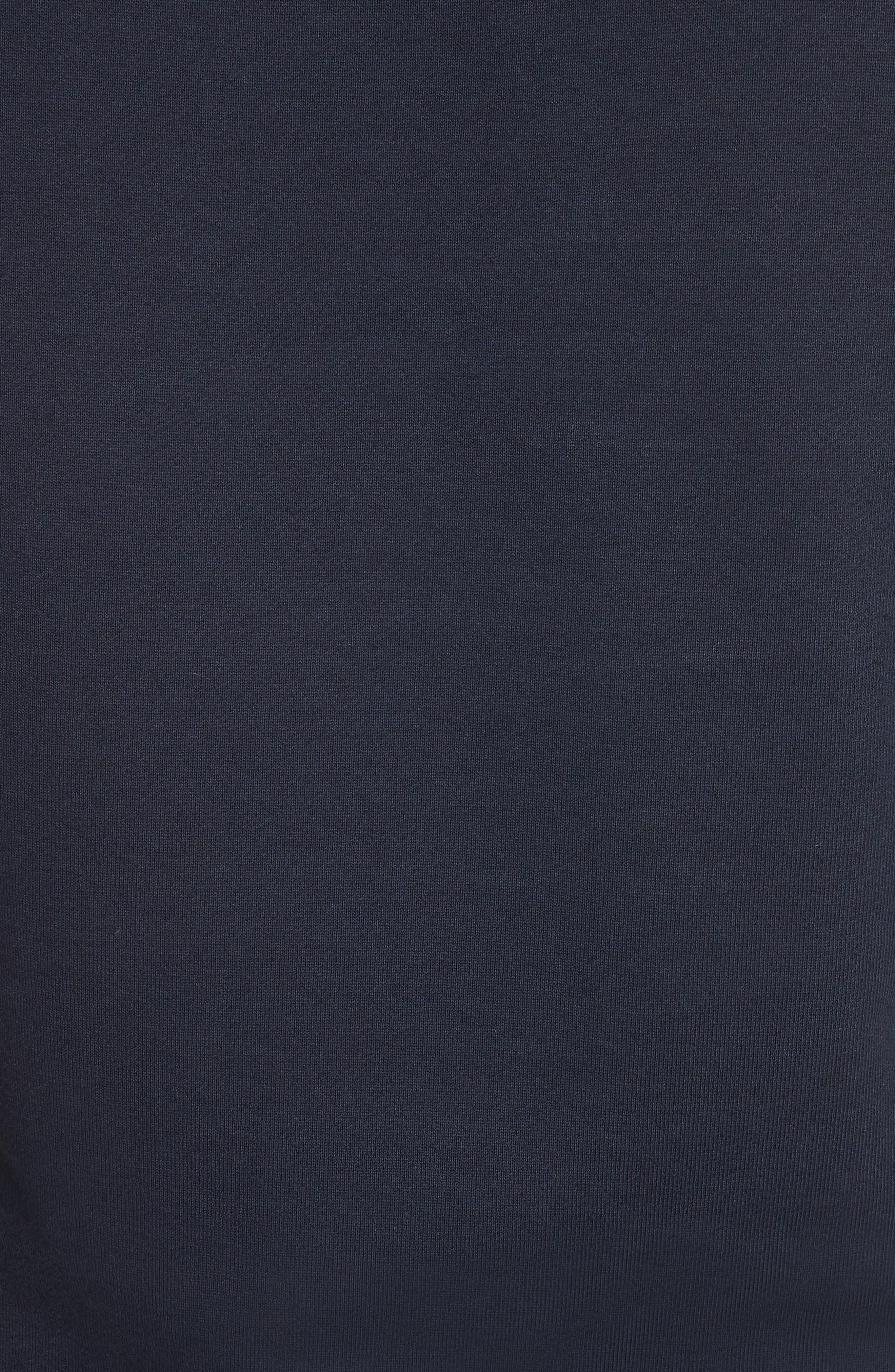 Smile Logo Raglan Crewneck Sweatshirt,                             Alternate thumbnail 5, color,                             Dark Navy