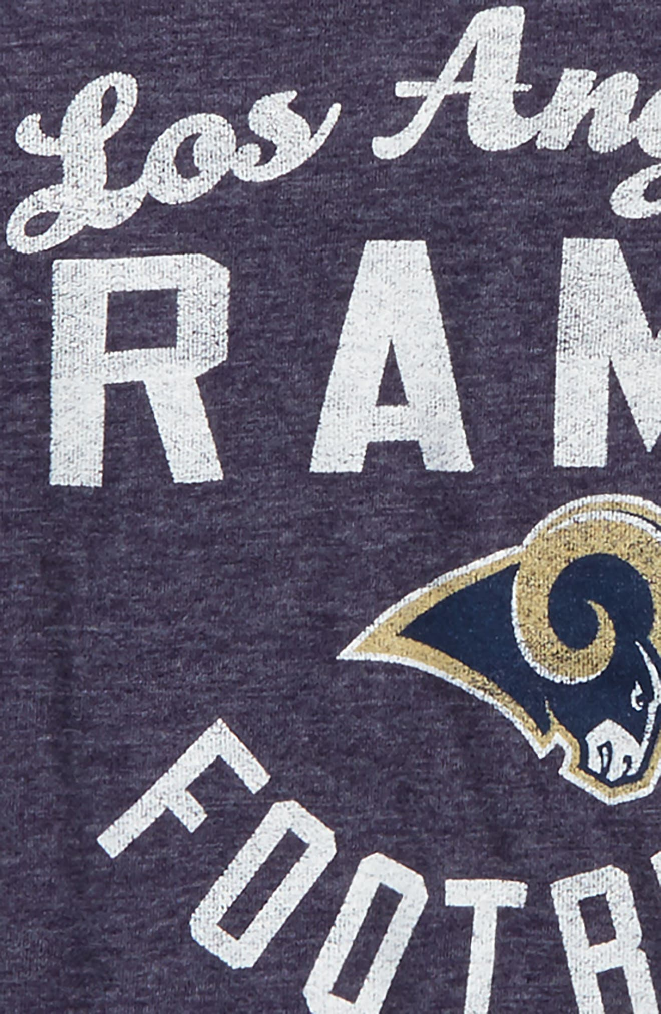 NFL Los Angeles Rams Distressed Logo T-Shirt,                             Alternate thumbnail 2, color,                             Navy