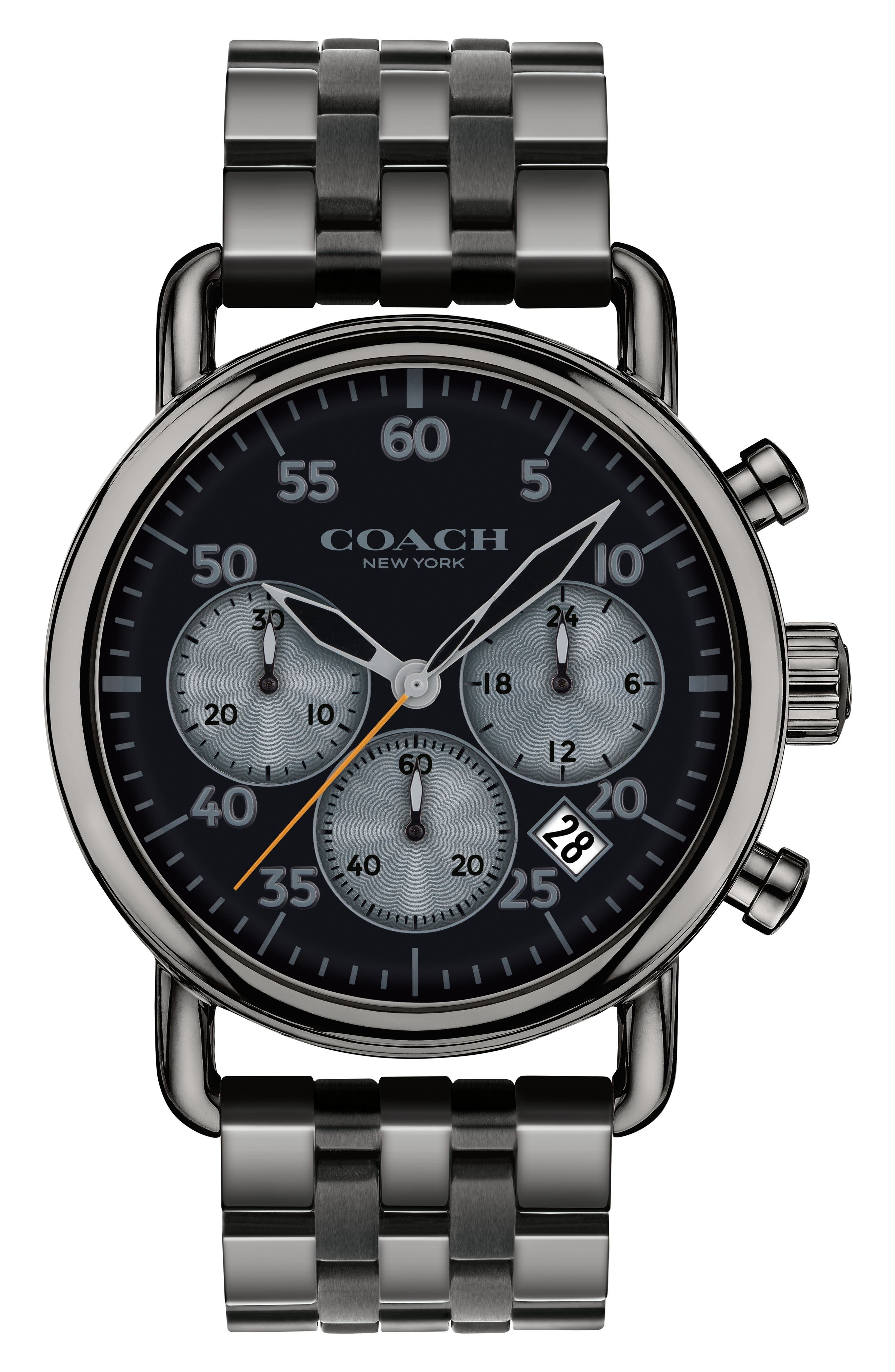 Alternate Image 1 Selected - COACH Delancey Chronograph Bracelet Watch, 42mm