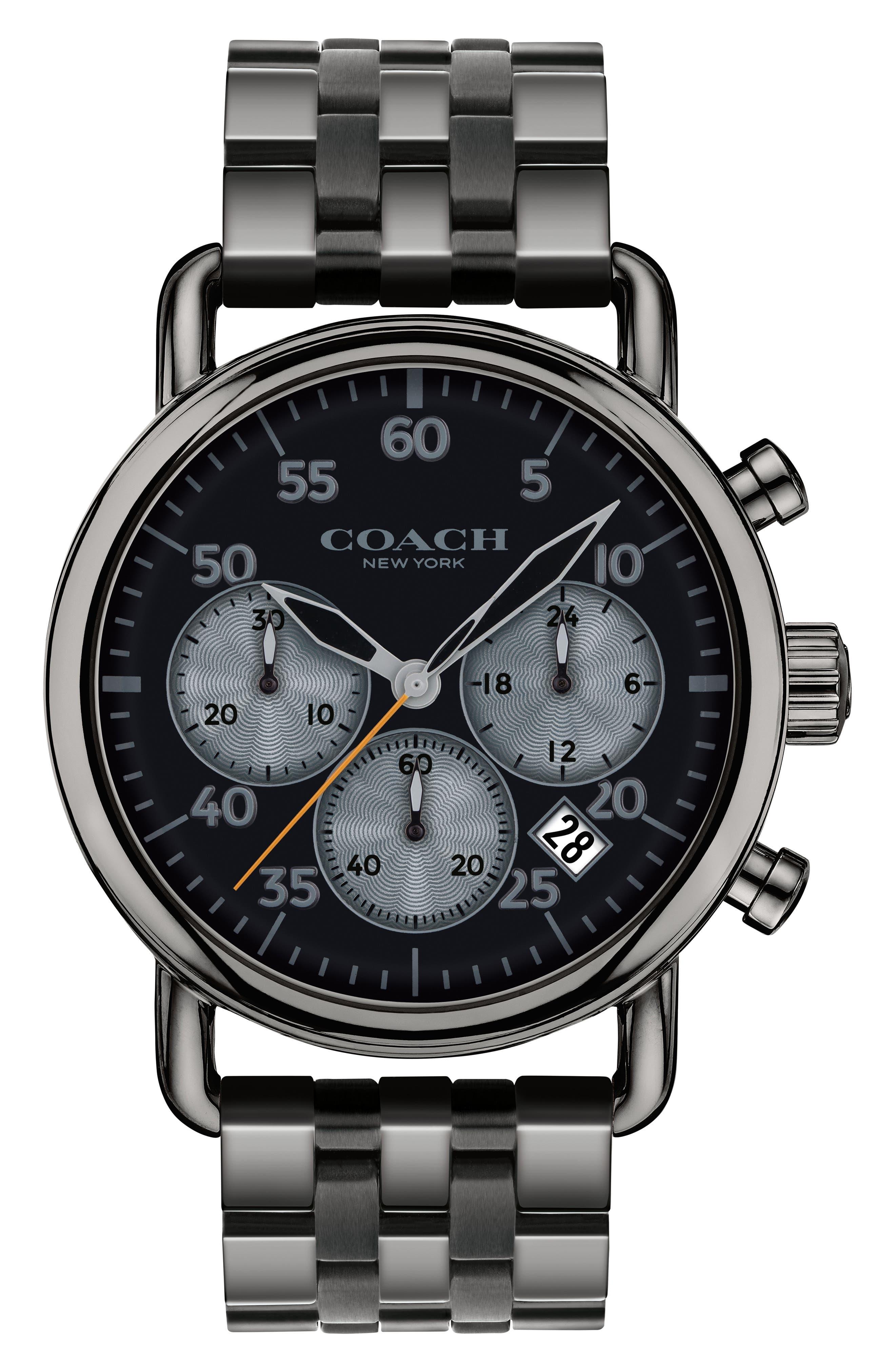 Delancey Chronograph Bracelet Watch, 42mm,                         Main,                         color, Gunmetal/ Black/ Gunmetal
