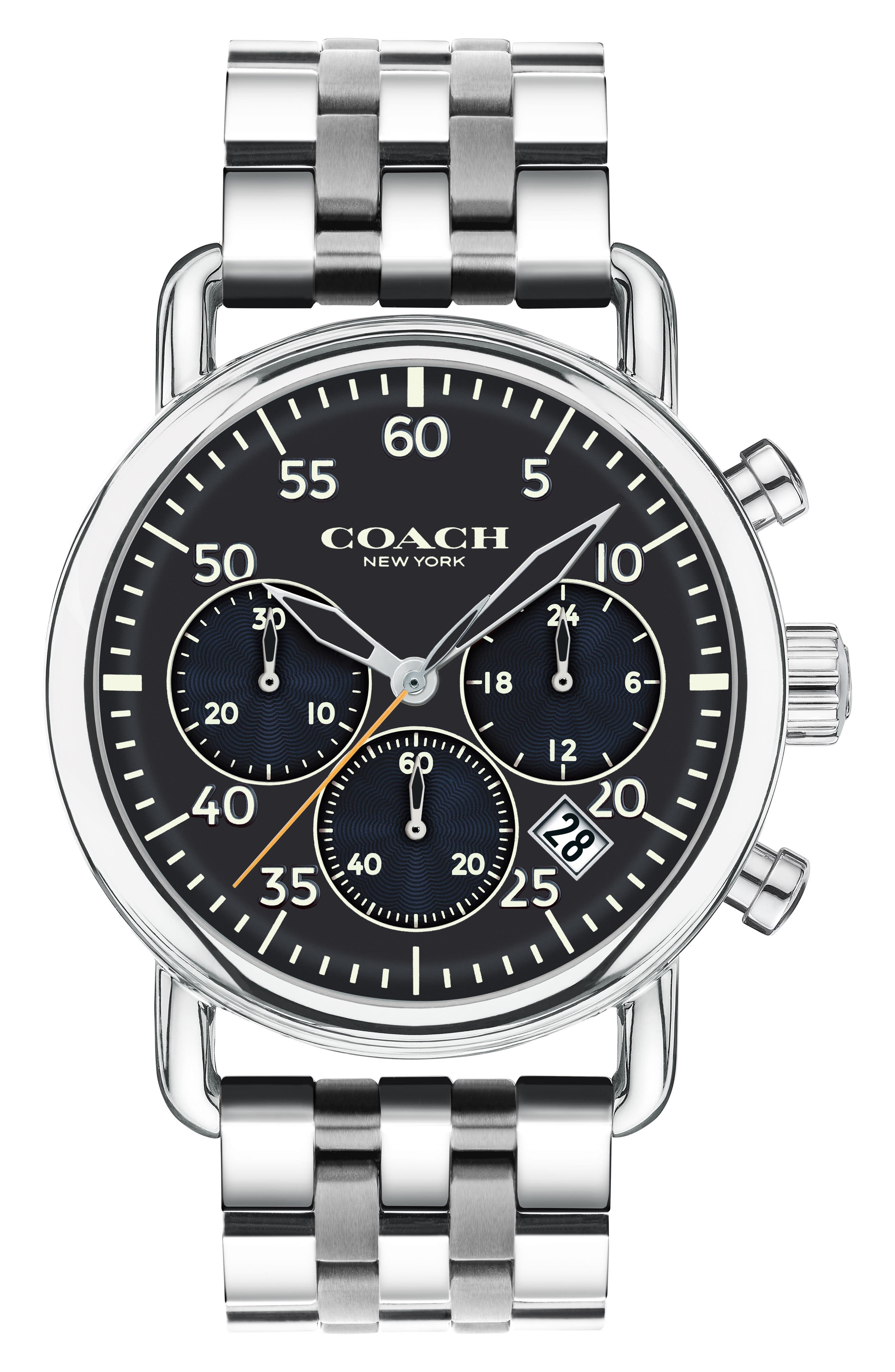 Delancey Chronograph Bracelet Watch, 42mm,                         Main,                         color, Silver/ Blue/ Silver