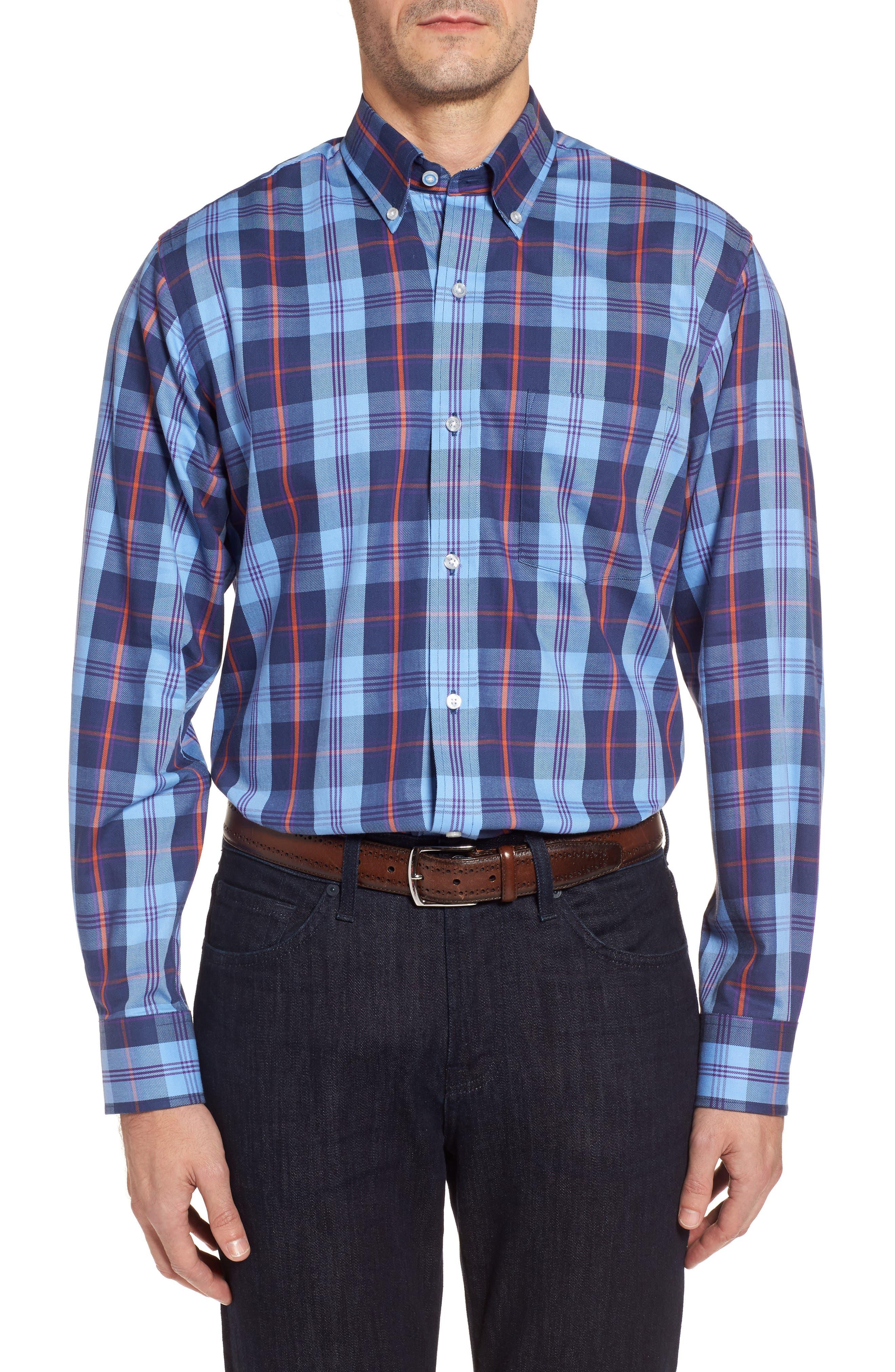Main Image - TailorByrd Chauvin Regular Fit Plaid Sport Shirt