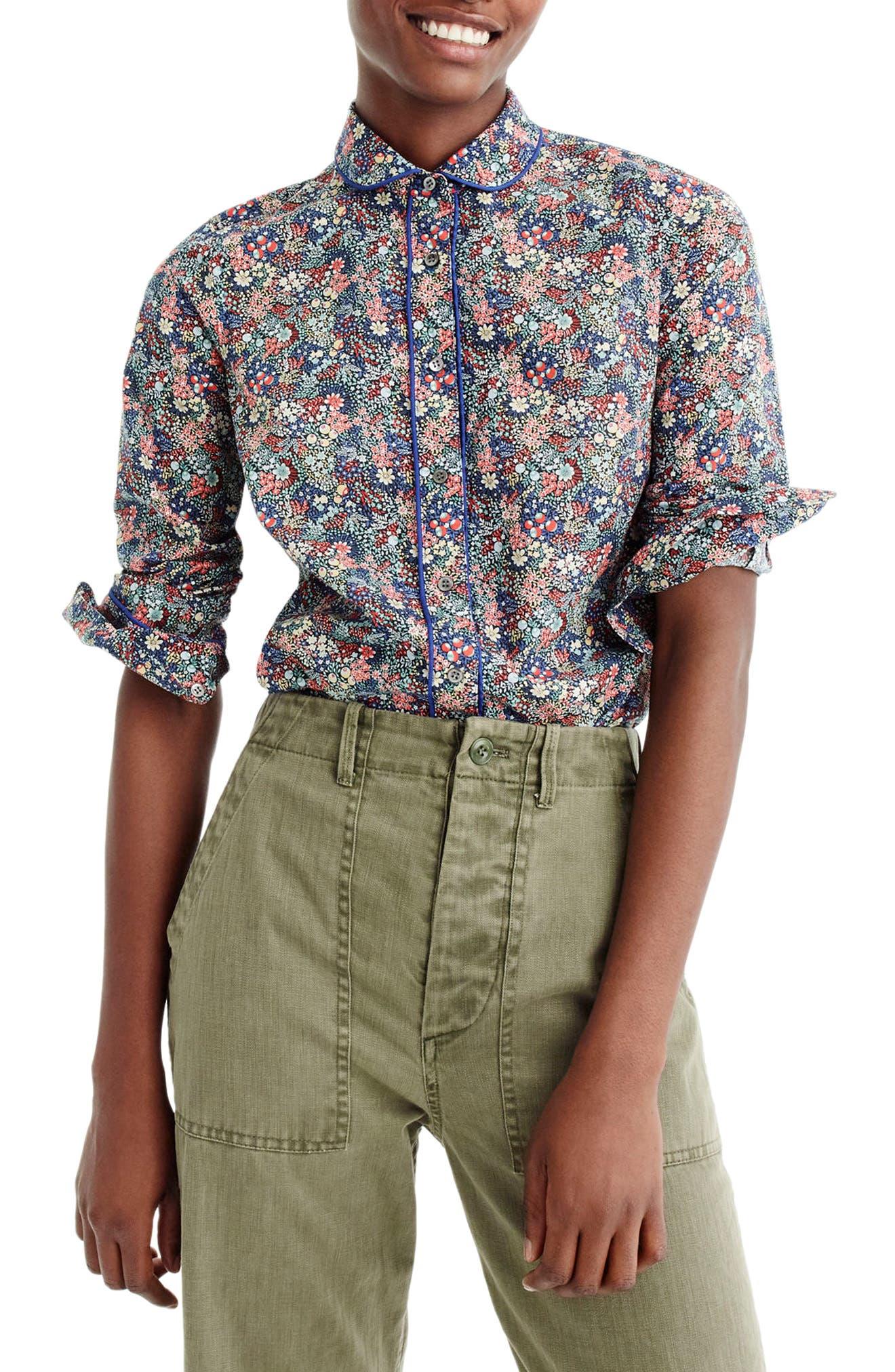 Club Collar Perfect Shirt,                         Main,                         color, Blue Coral