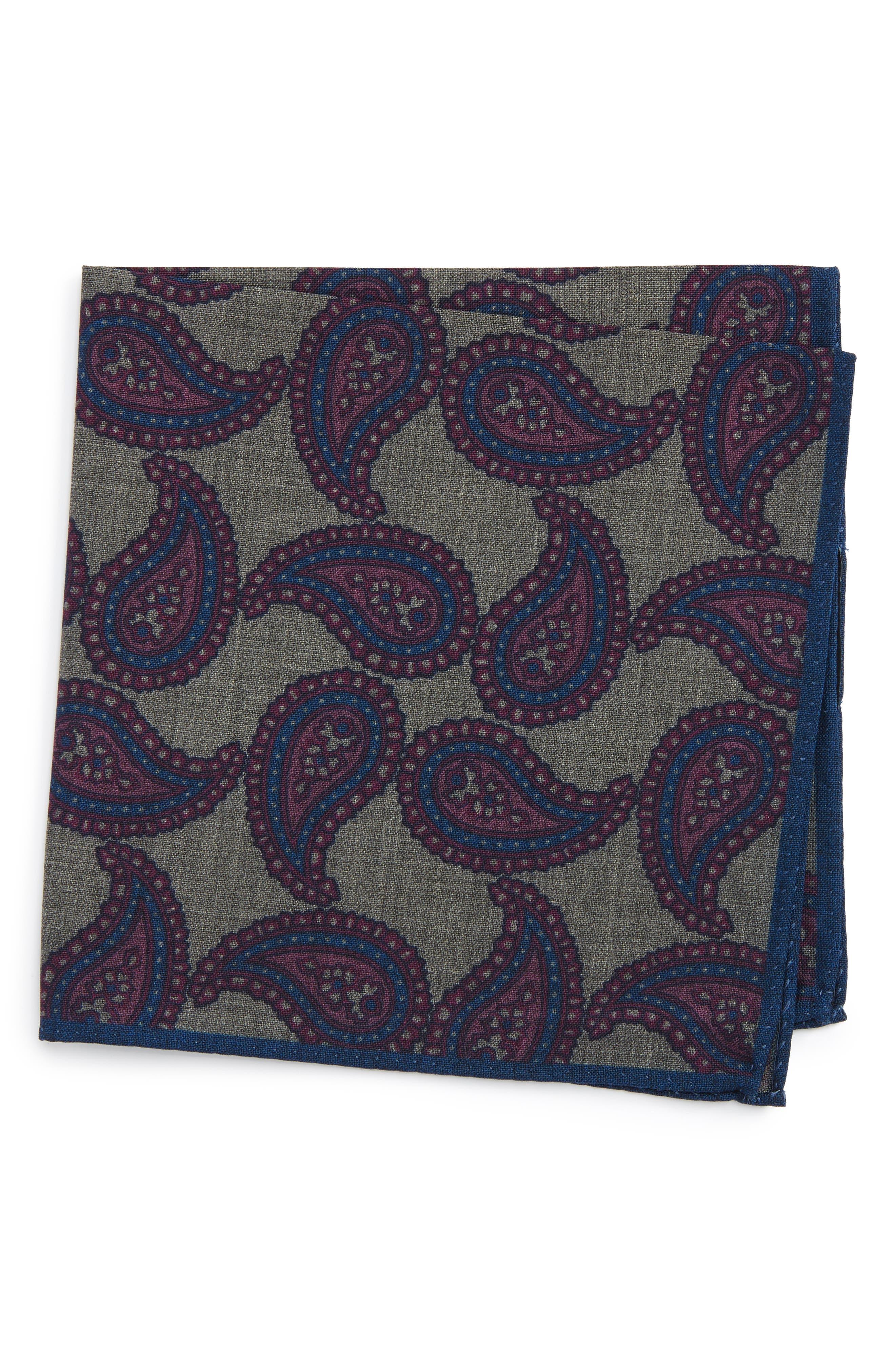 Main Image - Ted Baker London Paisley Wool Pocket Square