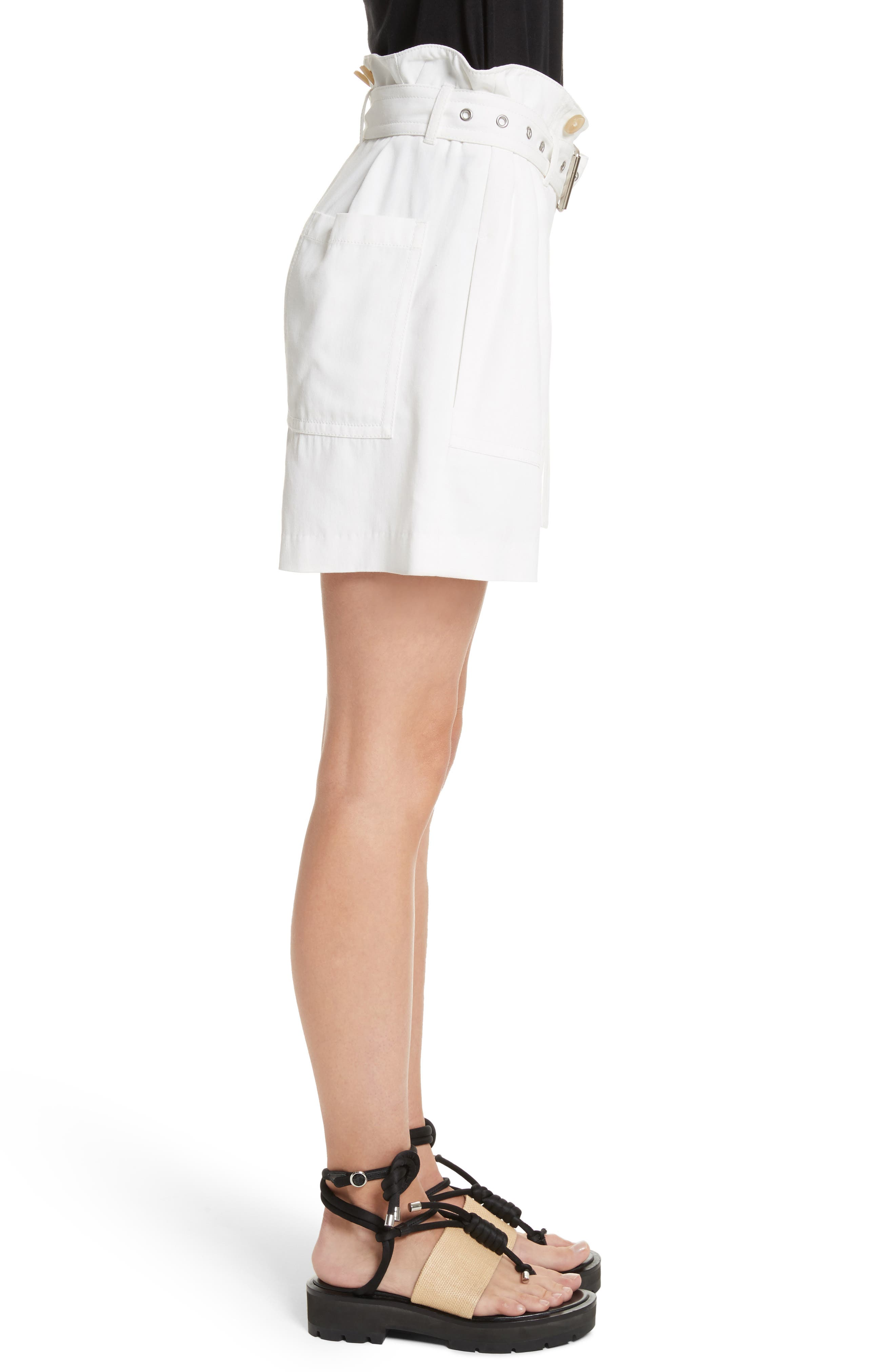 Belted Utility Shorts,                             Alternate thumbnail 3, color,                             Ivory