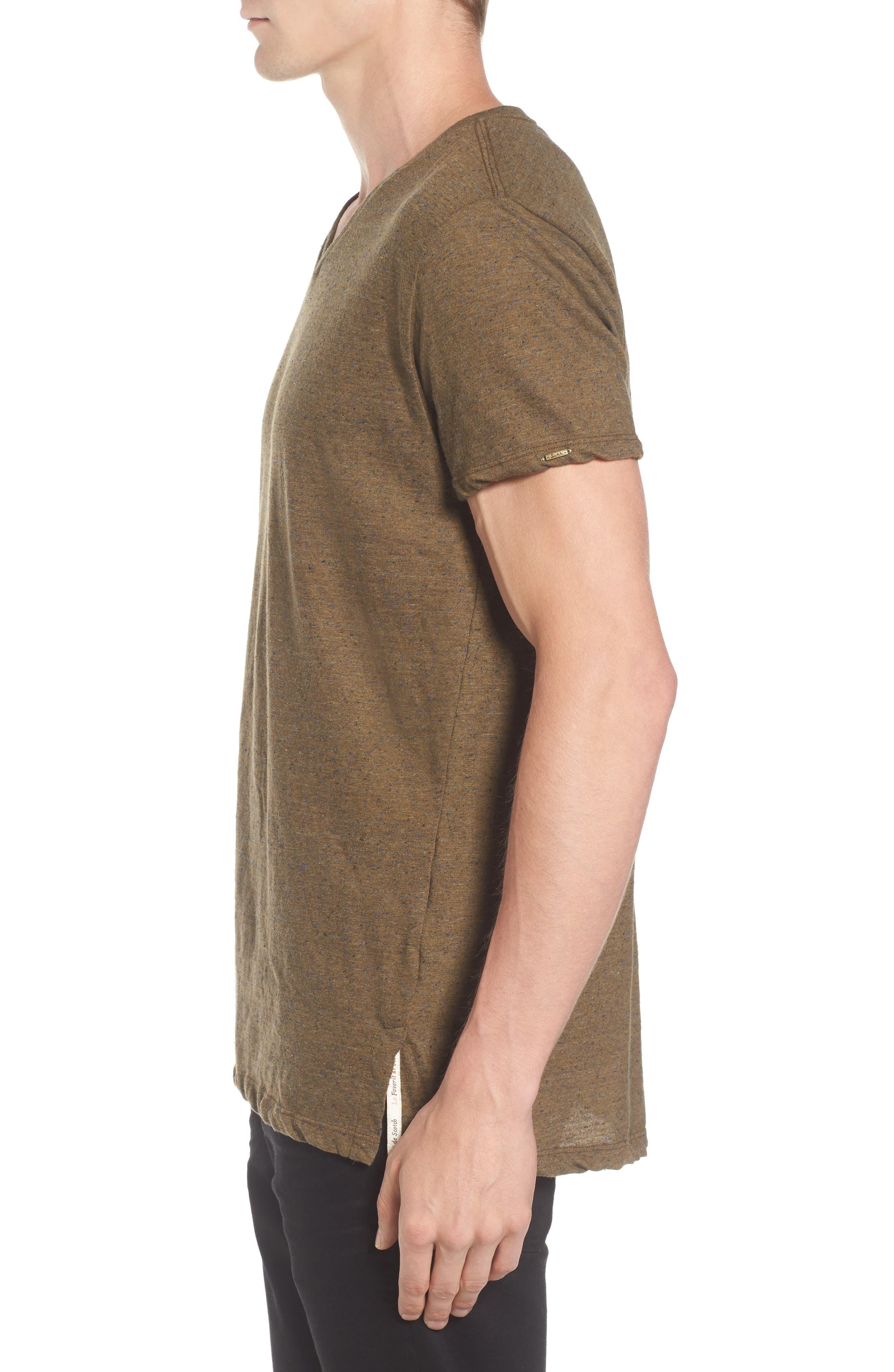 Mélange Jersey T-Shirt,                             Alternate thumbnail 3, color,                             Green