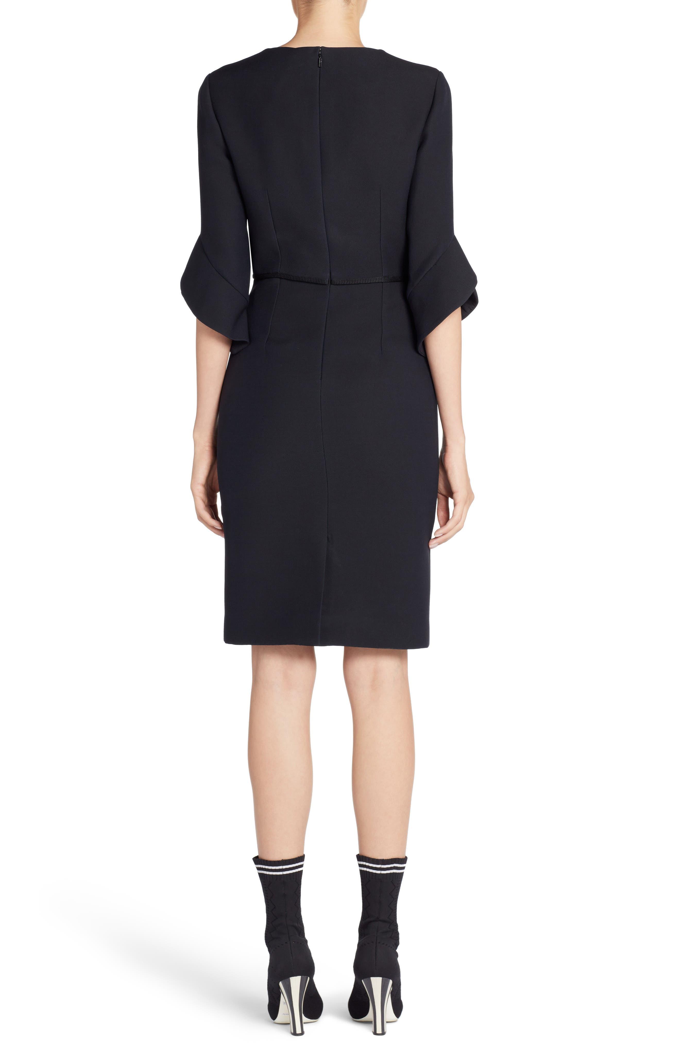 Alternate Image 3  - Fendi Embellished Wool & Silk Gazar Dress